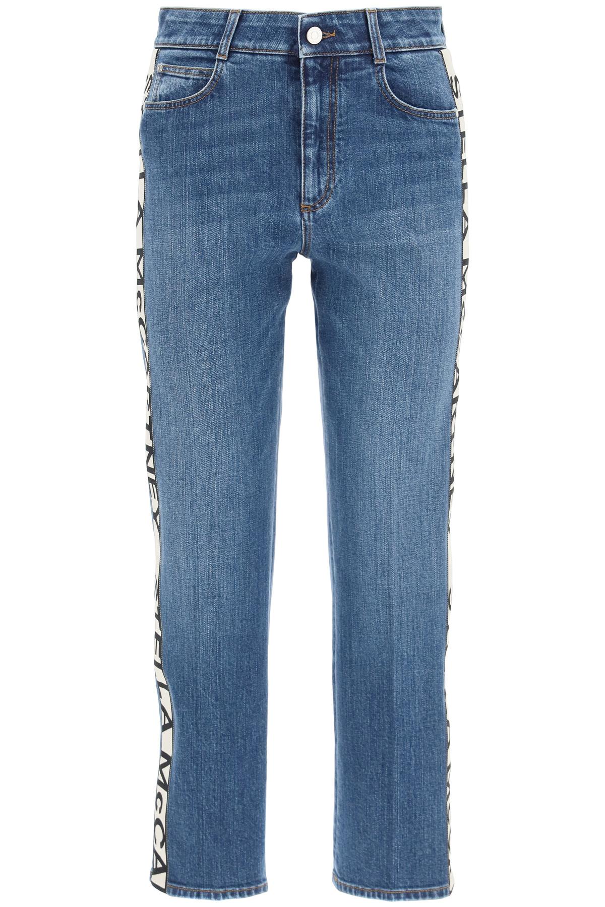 Stella mccartney jeans rise cropped bande monogram
