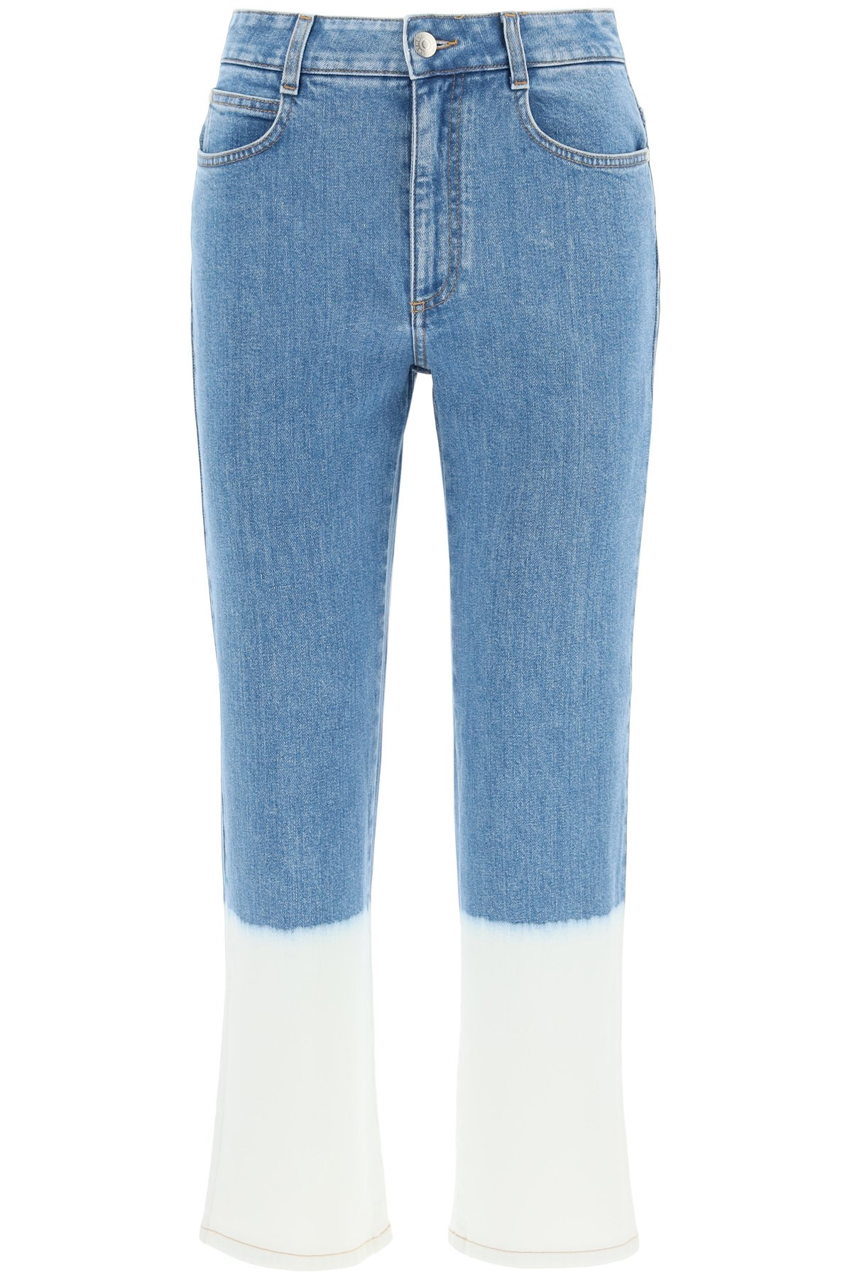 Stella mccartney jeans cropped effetto sbiadito