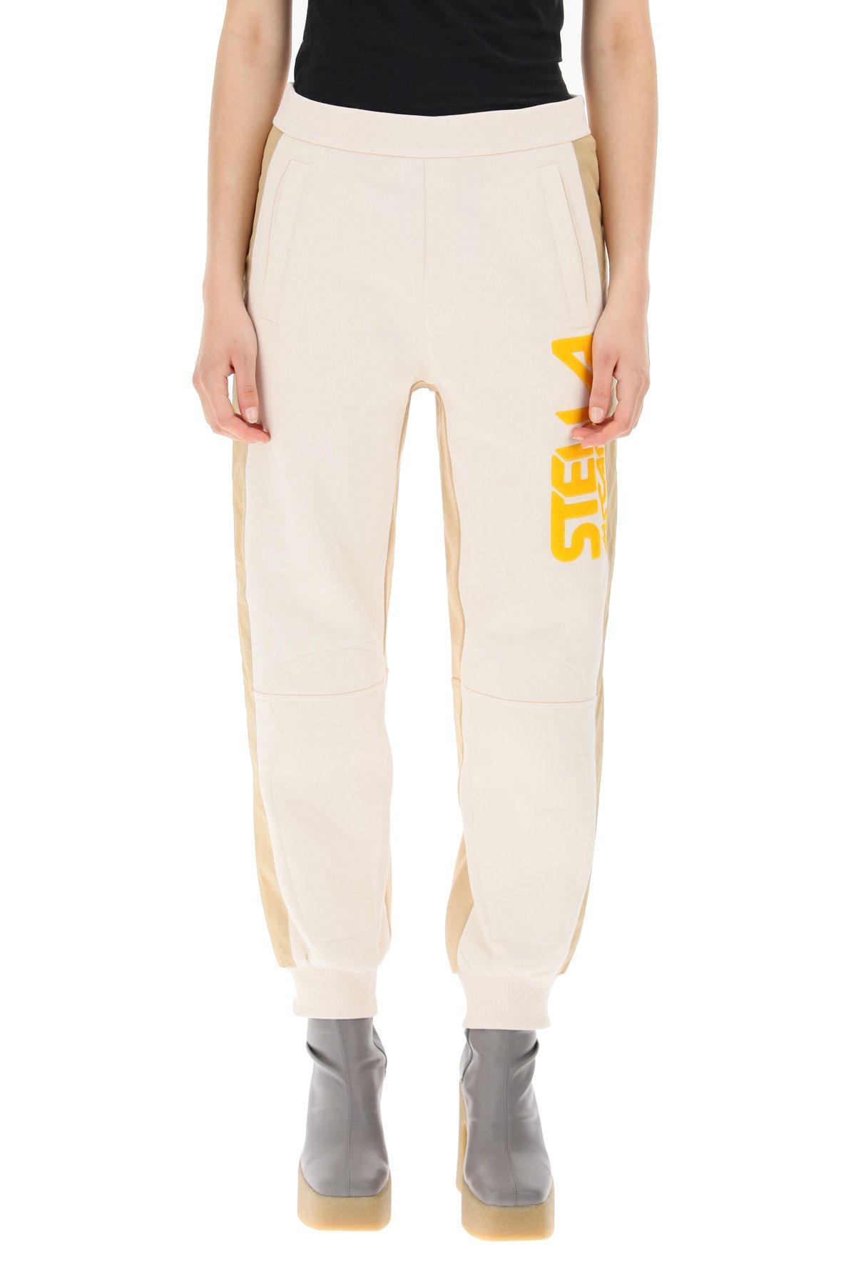 Stella mccartney pantaloni jogger con logo