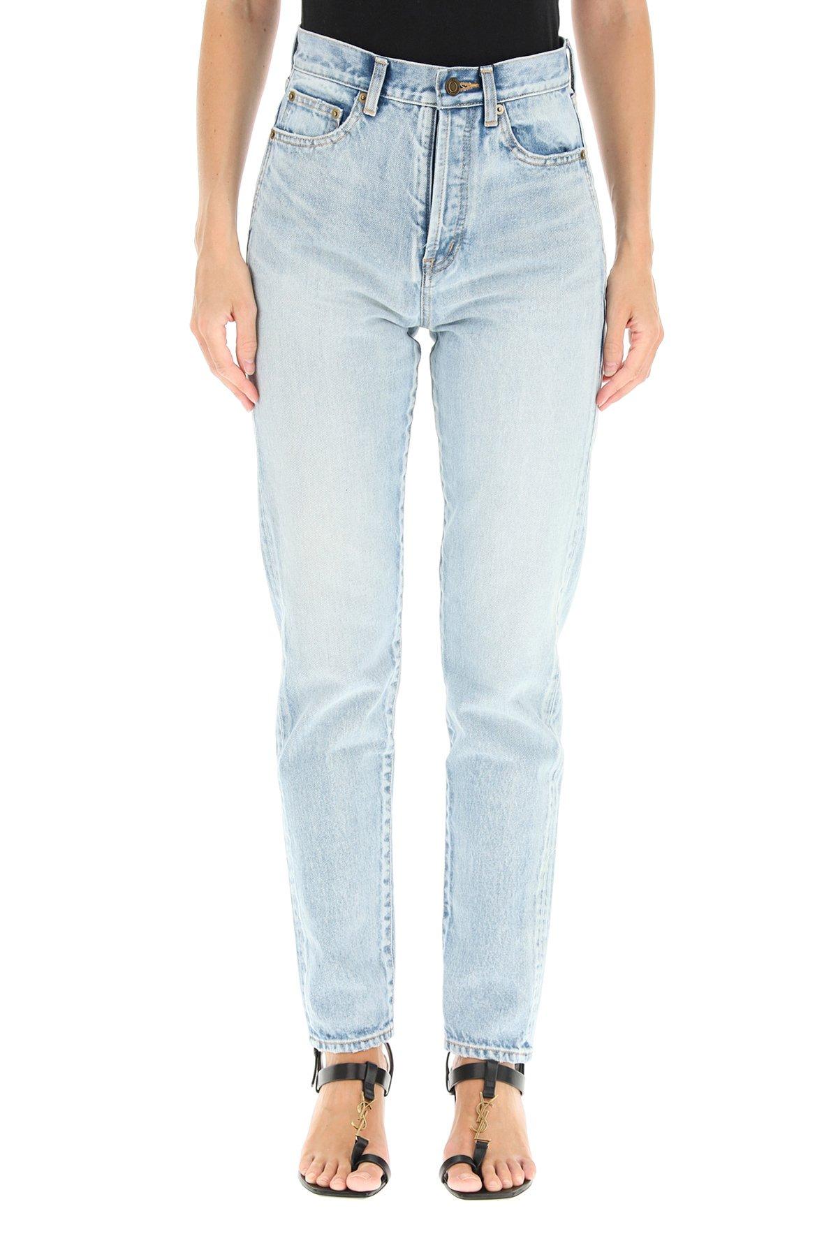 Saint laurent jeans slim serge light blue