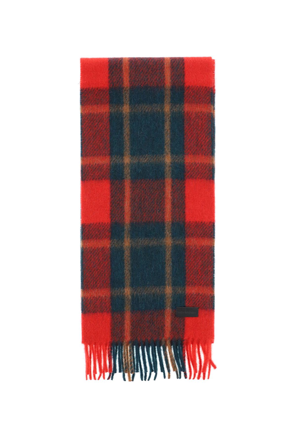 Saint laurent sciarpa carreaux lana shetland