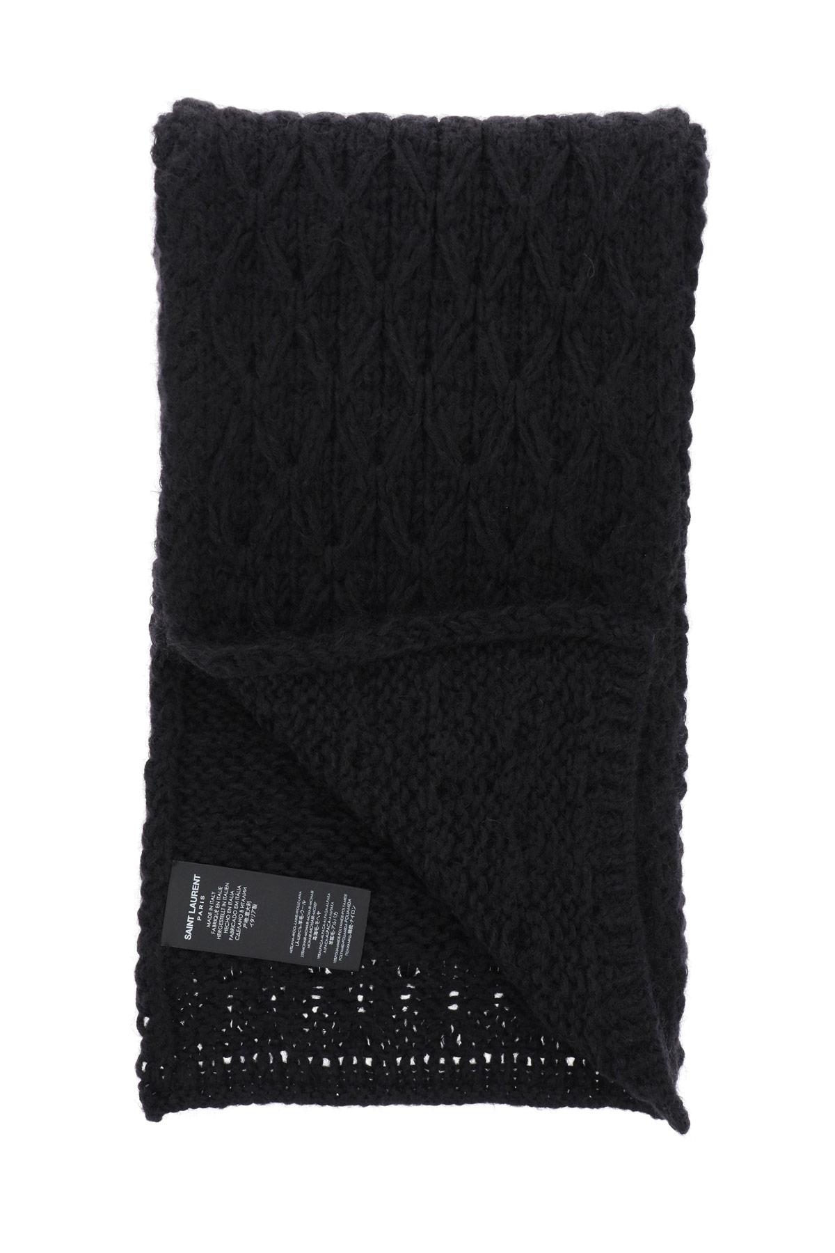 Saint laurent sciarpa tricot losange relief