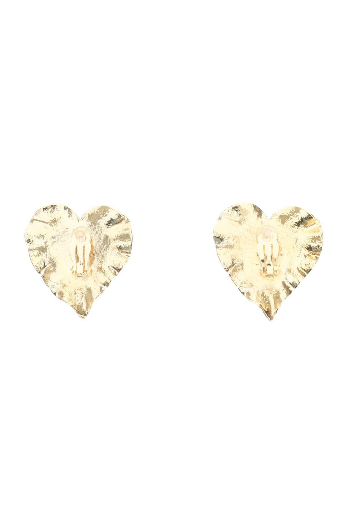 Saint laurent orecchini heritage coeur double
