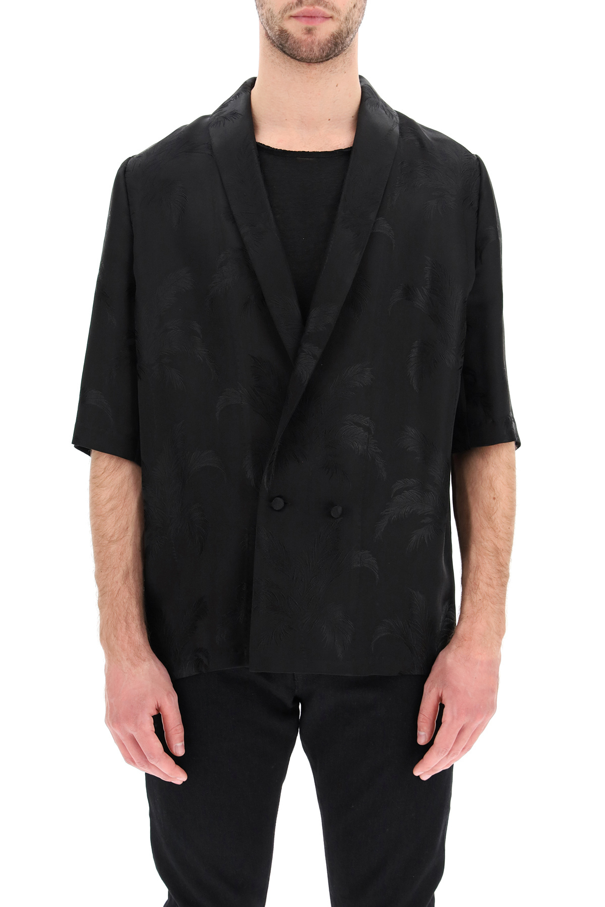 Saint laurent camicia-giacca stampa tropical