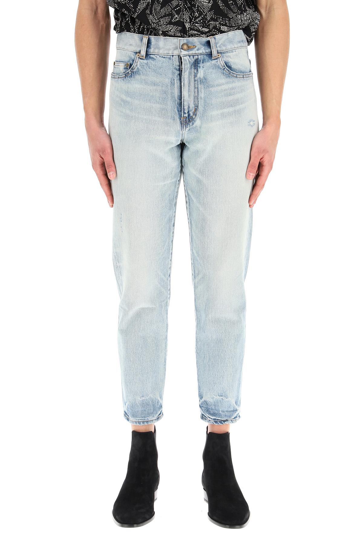 Saint laurent jeans carrot fit grey off white
