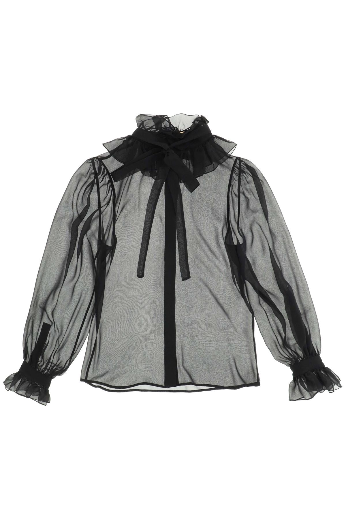Saint laurent camicia mousseline di seta