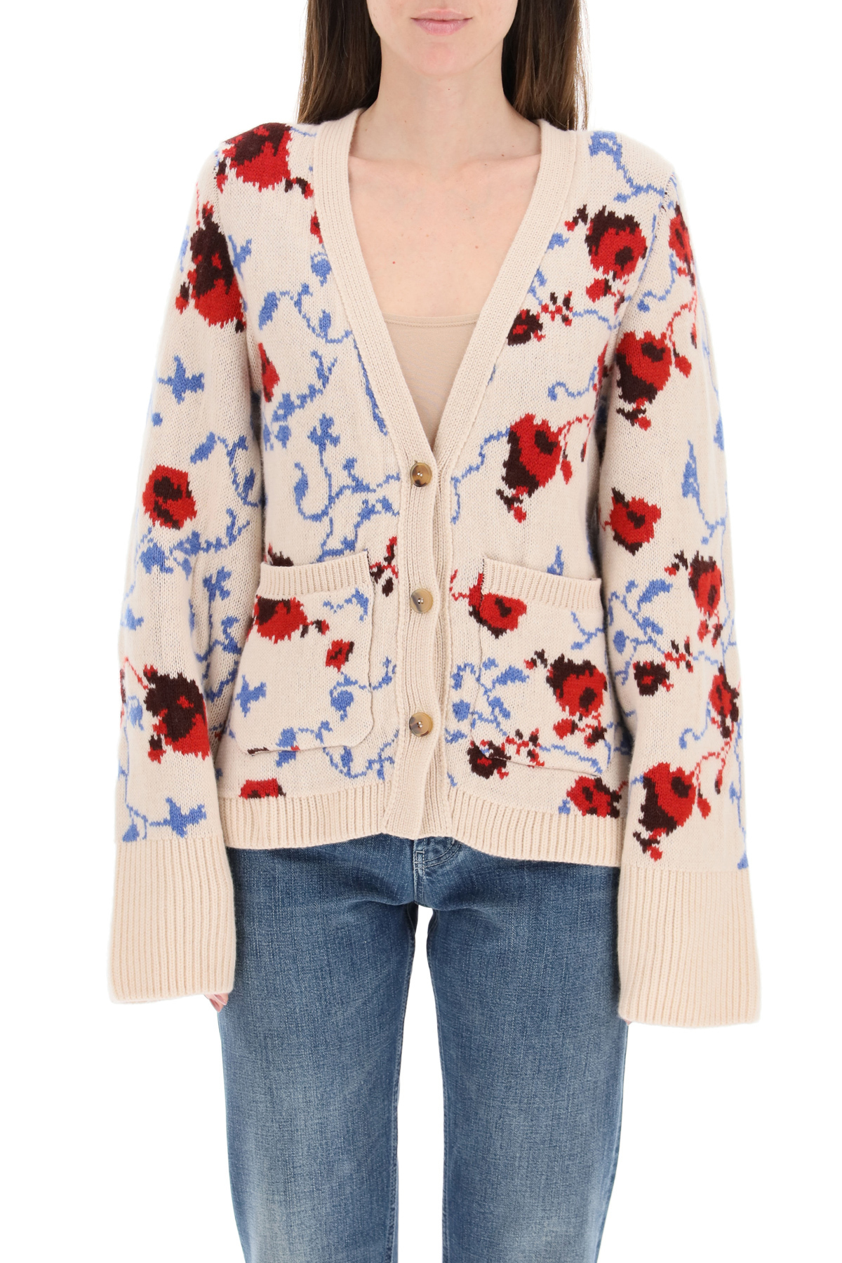 Khaite cardigan scarlett in cachemire jacquard