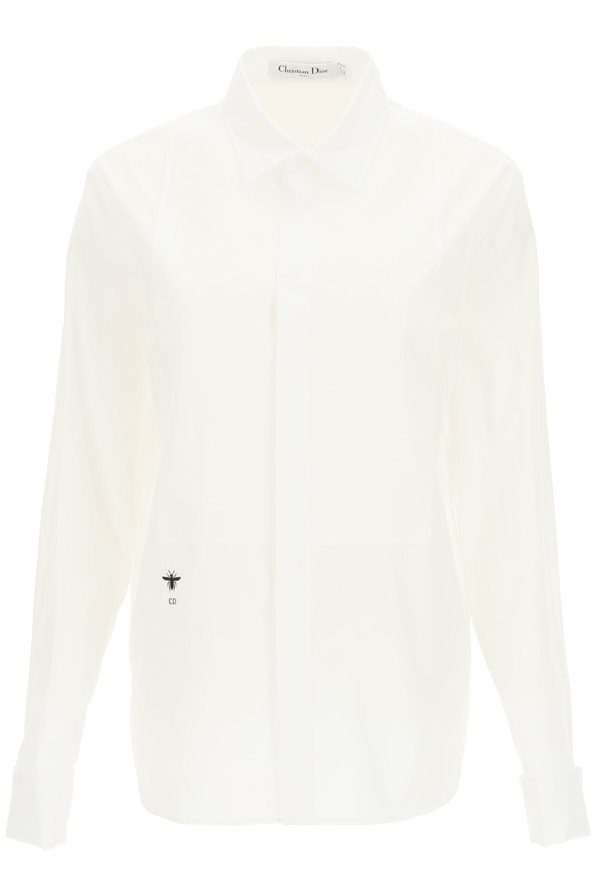 Dior camicia con plastron