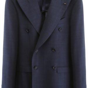 Cc collection corneliani blazer destrutturato tartan
