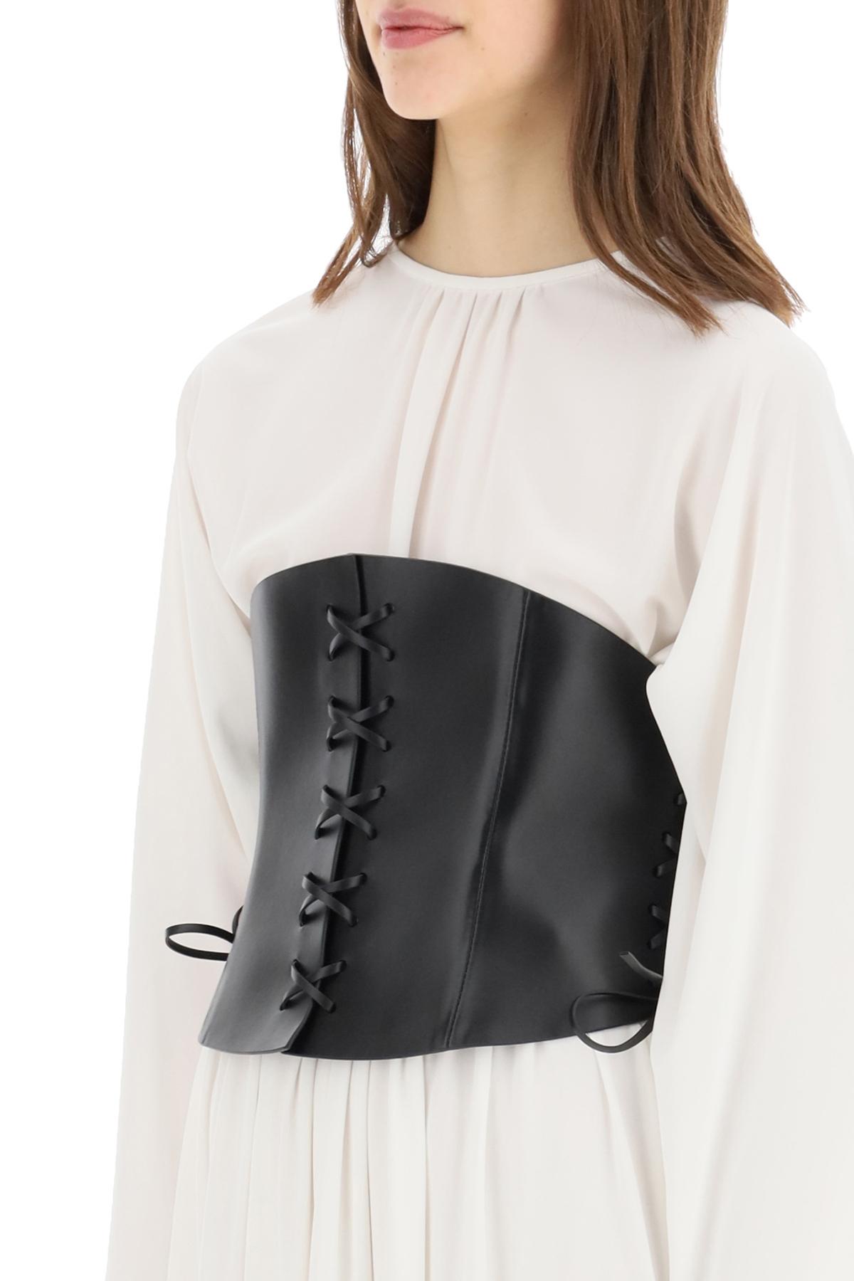Dior cintura a corsetto d-lace in pelle