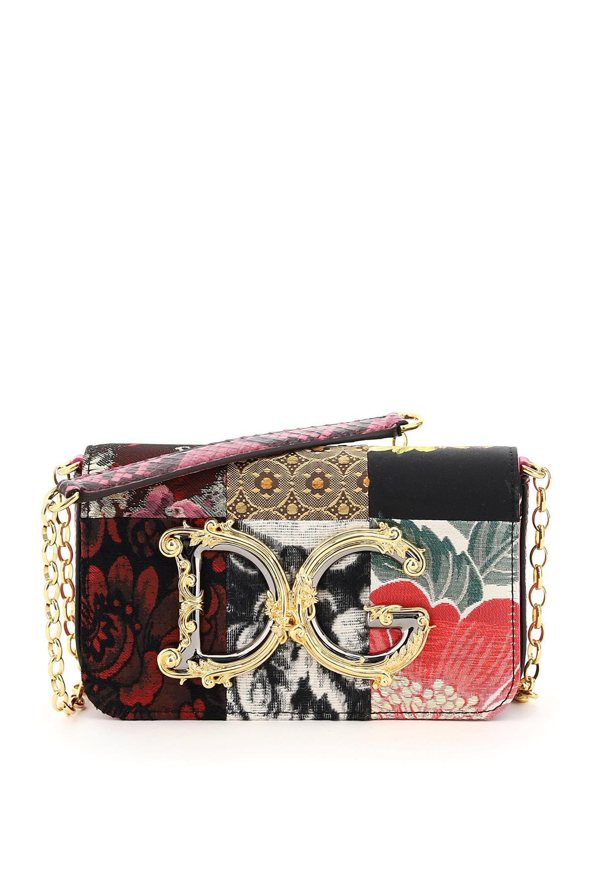 Dolce & gabbana mini bag patchwork dg girl barocco