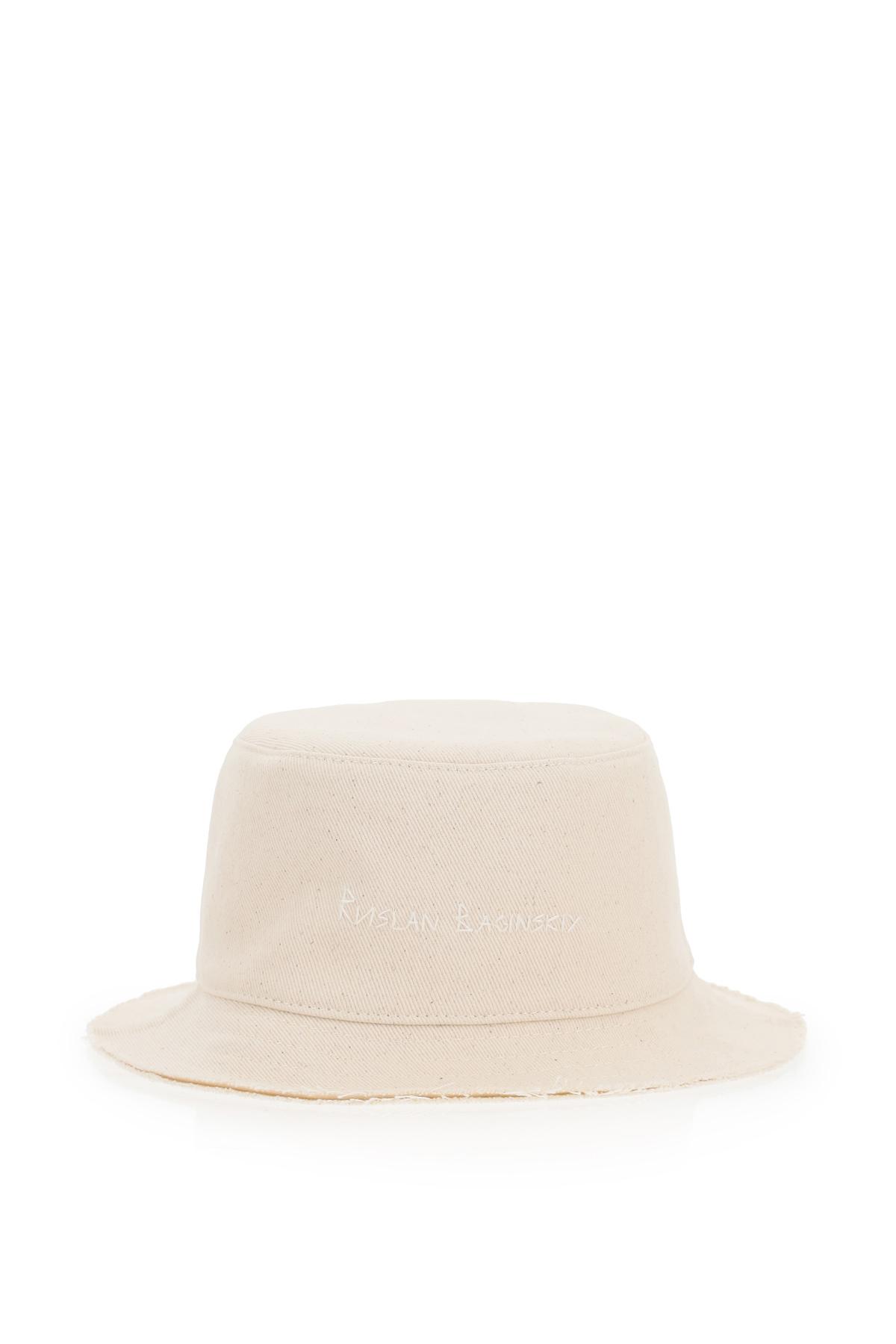Ruslan baginskiy cappello bucket twill con perle e conchiglie