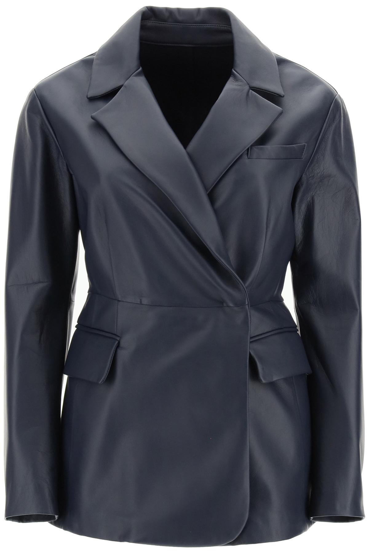 Sportmax giacca monopetto in nappa