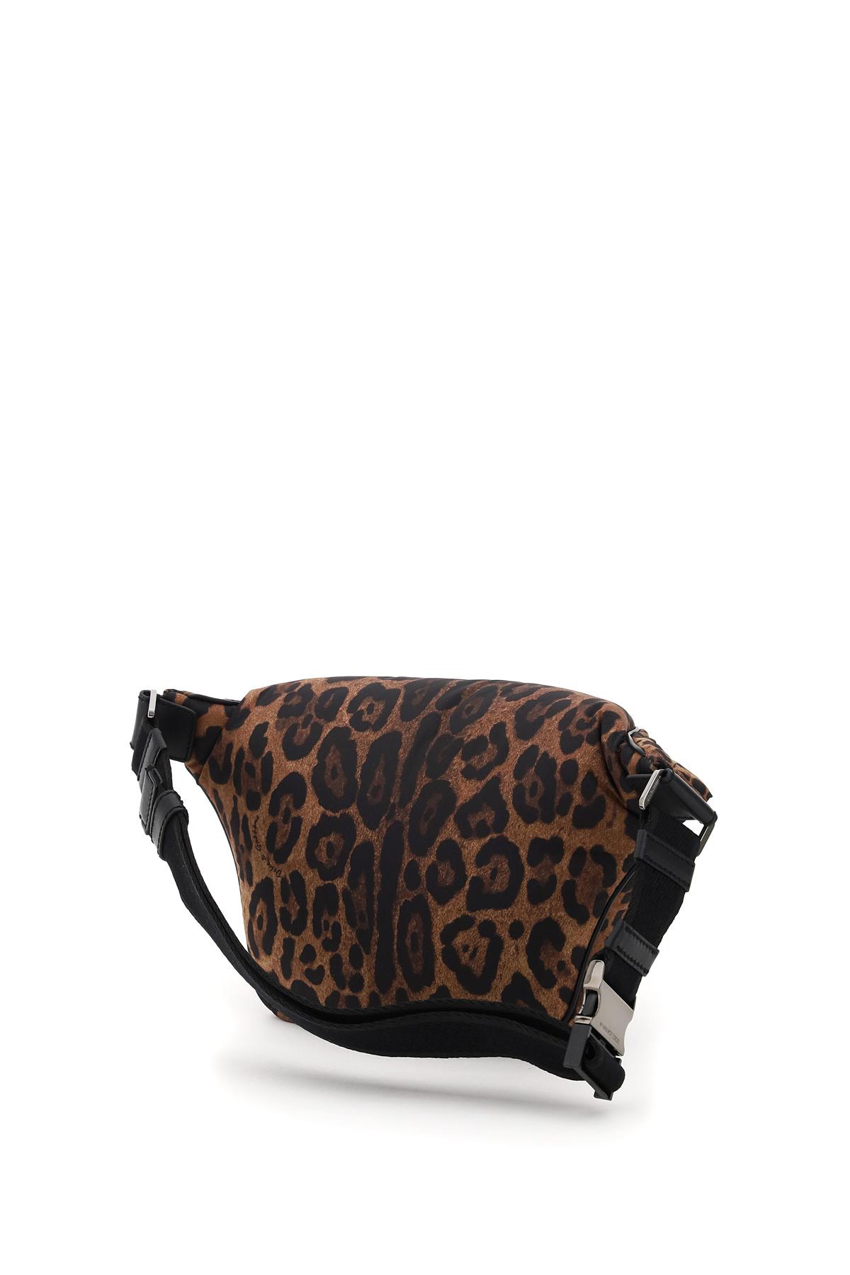 Dolce & gabbana marsupio sicily in nylon leopardato