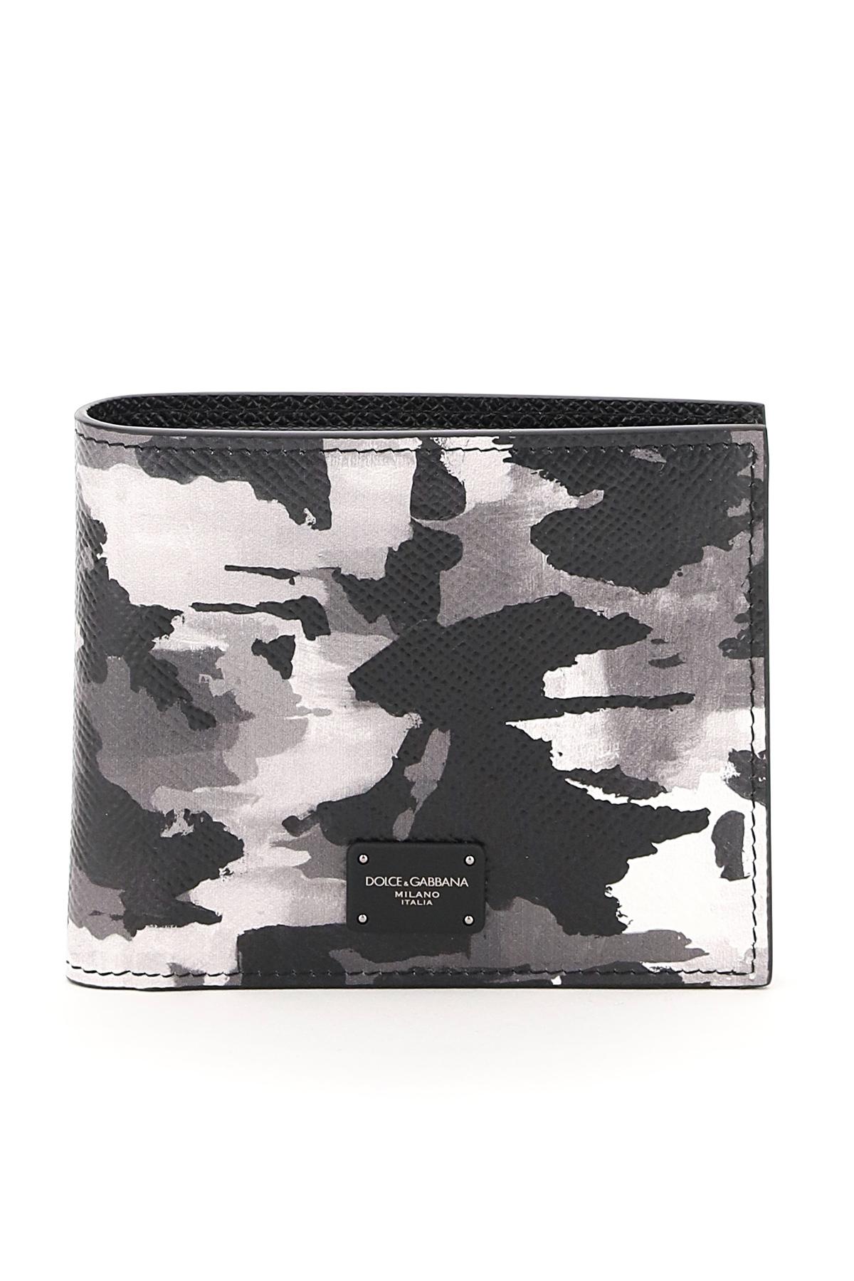 Dolce & gabbana portafoglio camouflage bi-fold