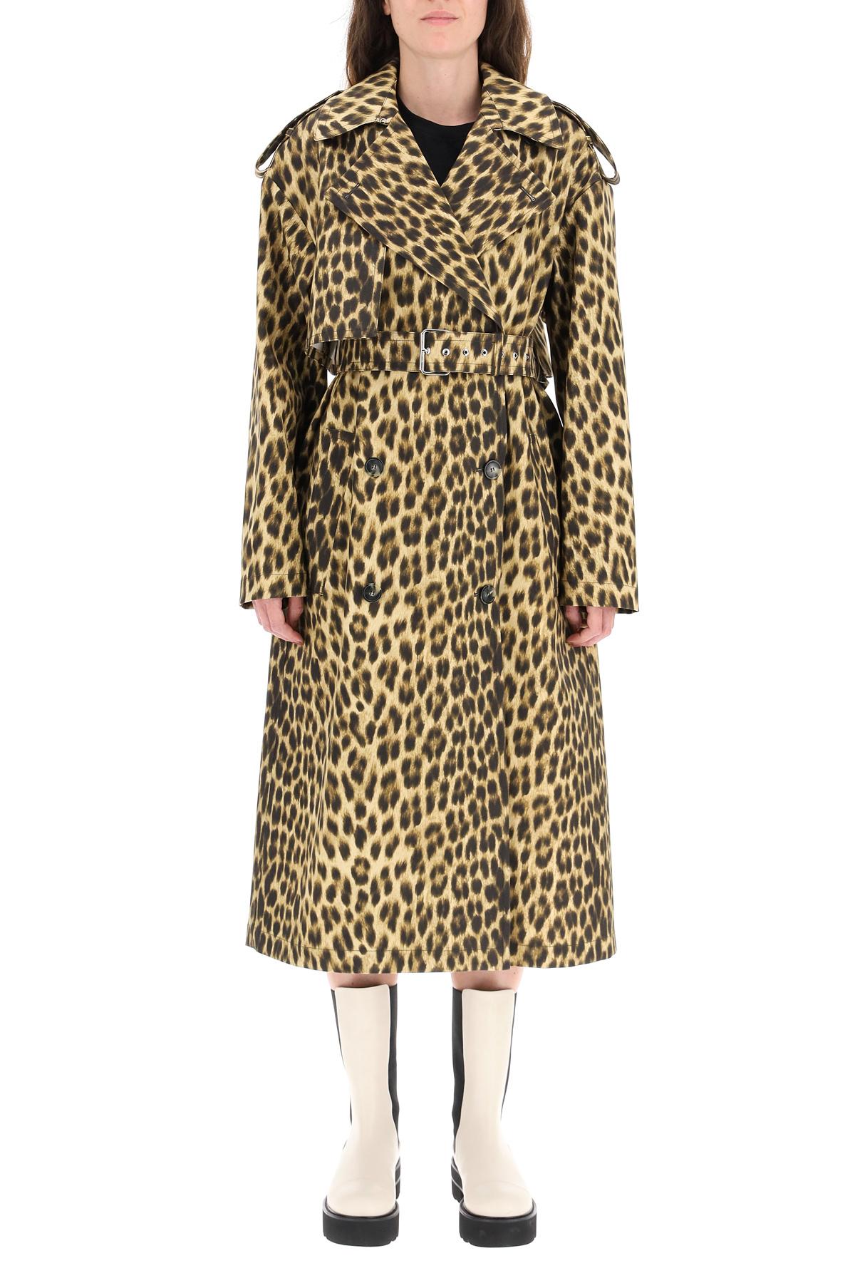 Sportmax raincoat bracco leopardato