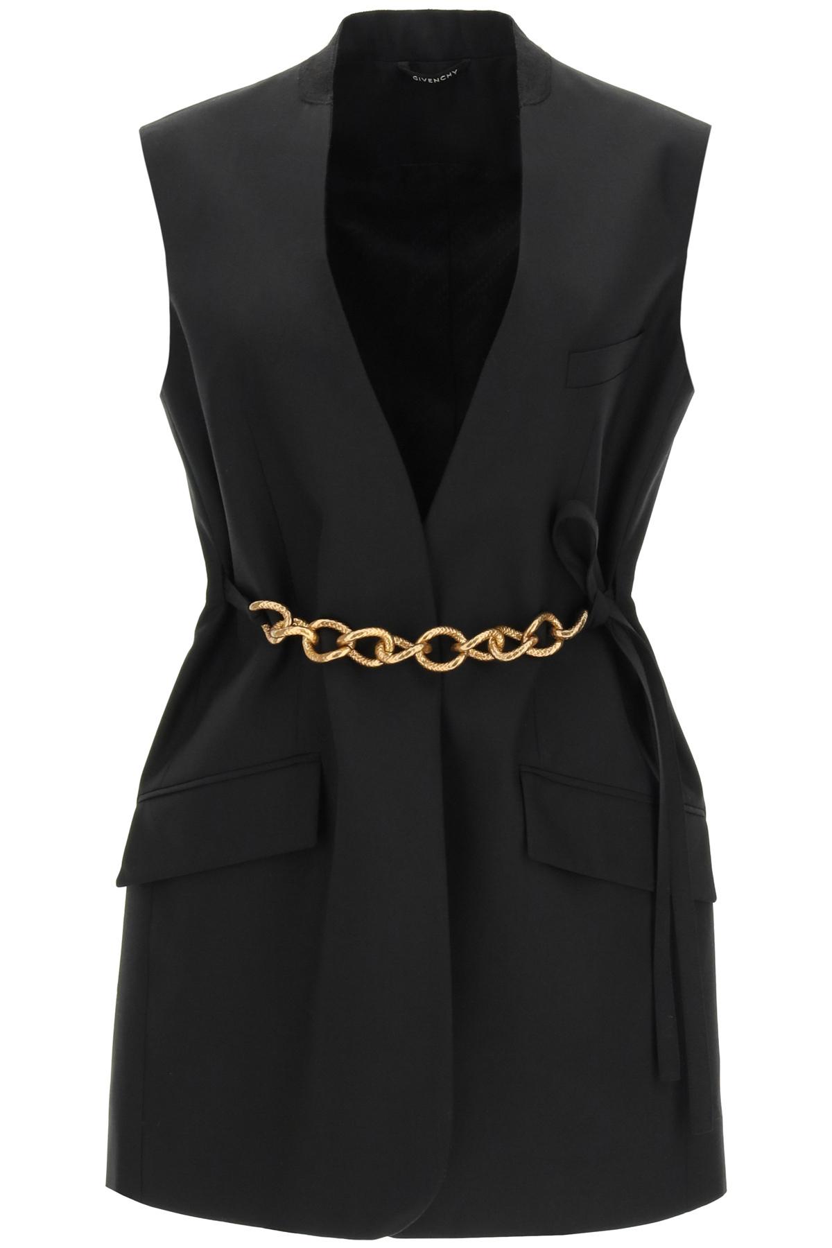 Givenchy giacca senza maniche con catena