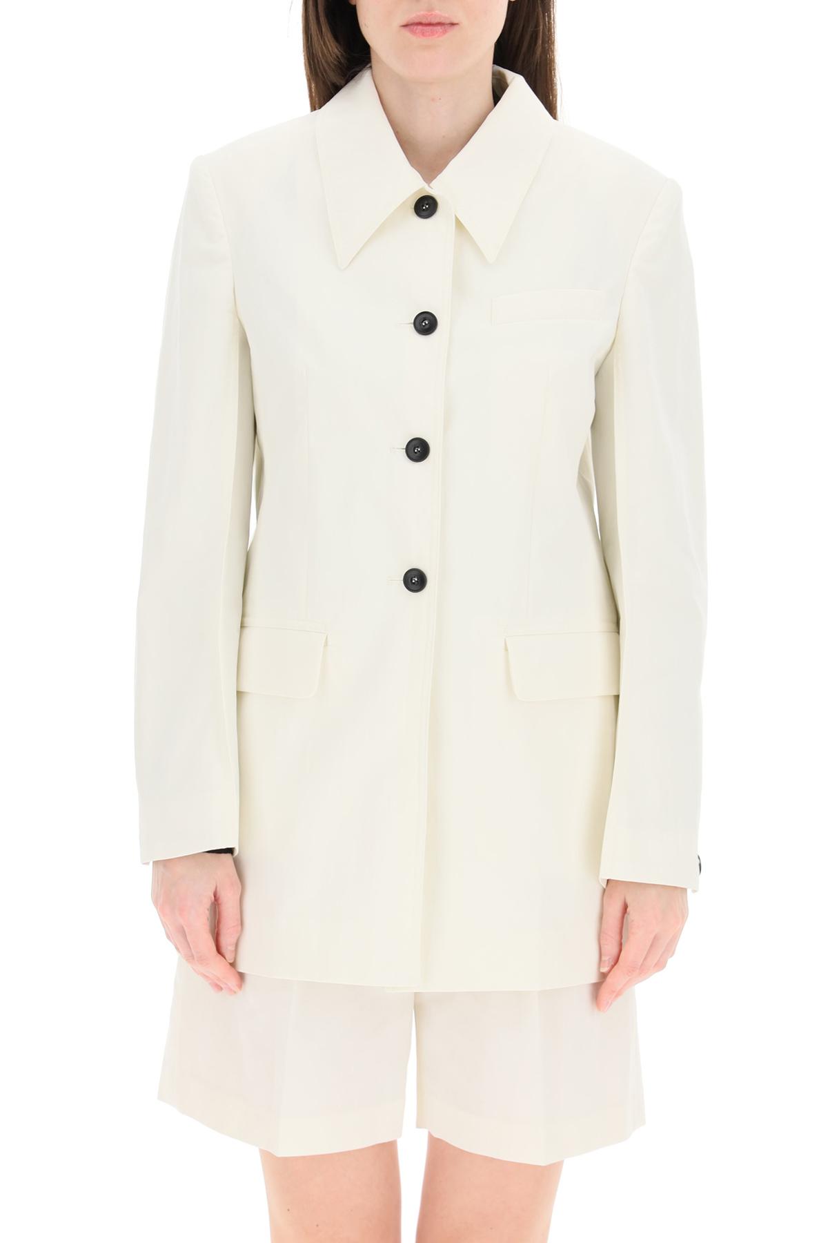 Low classic blazer in cotone