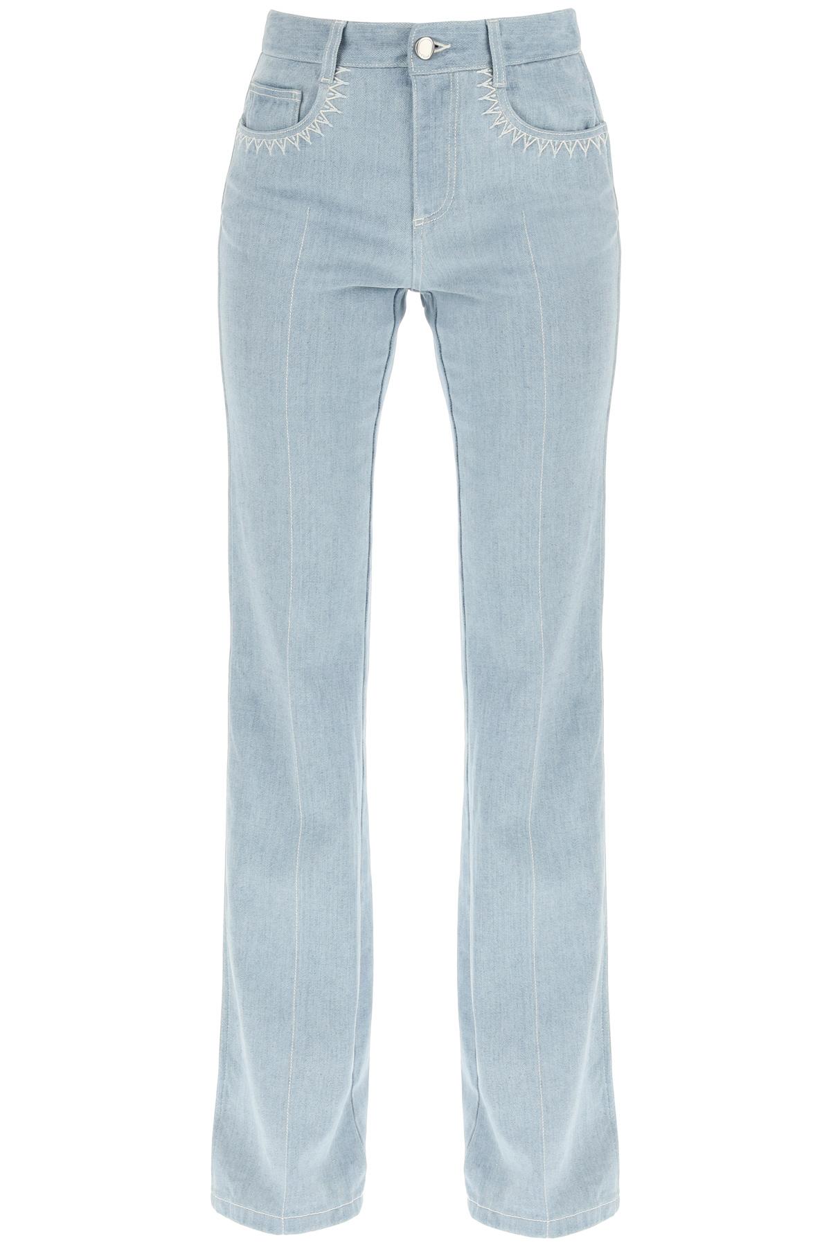 Chloe' jeans flare con logo laser