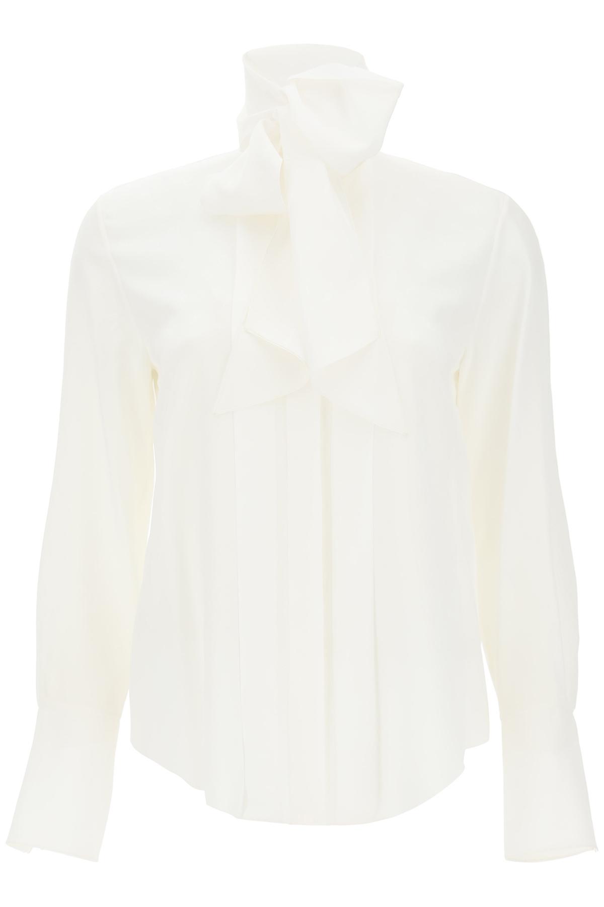 Chloe' camicia seta monogram con lavalliere