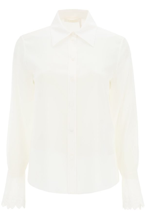 Chloe' camicia in seta ricamata