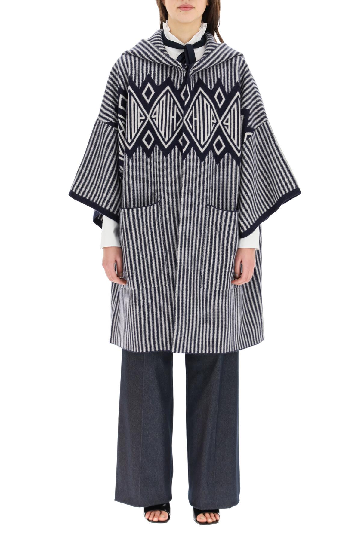 Chloe' cappotto in maglia di lana e cachemire