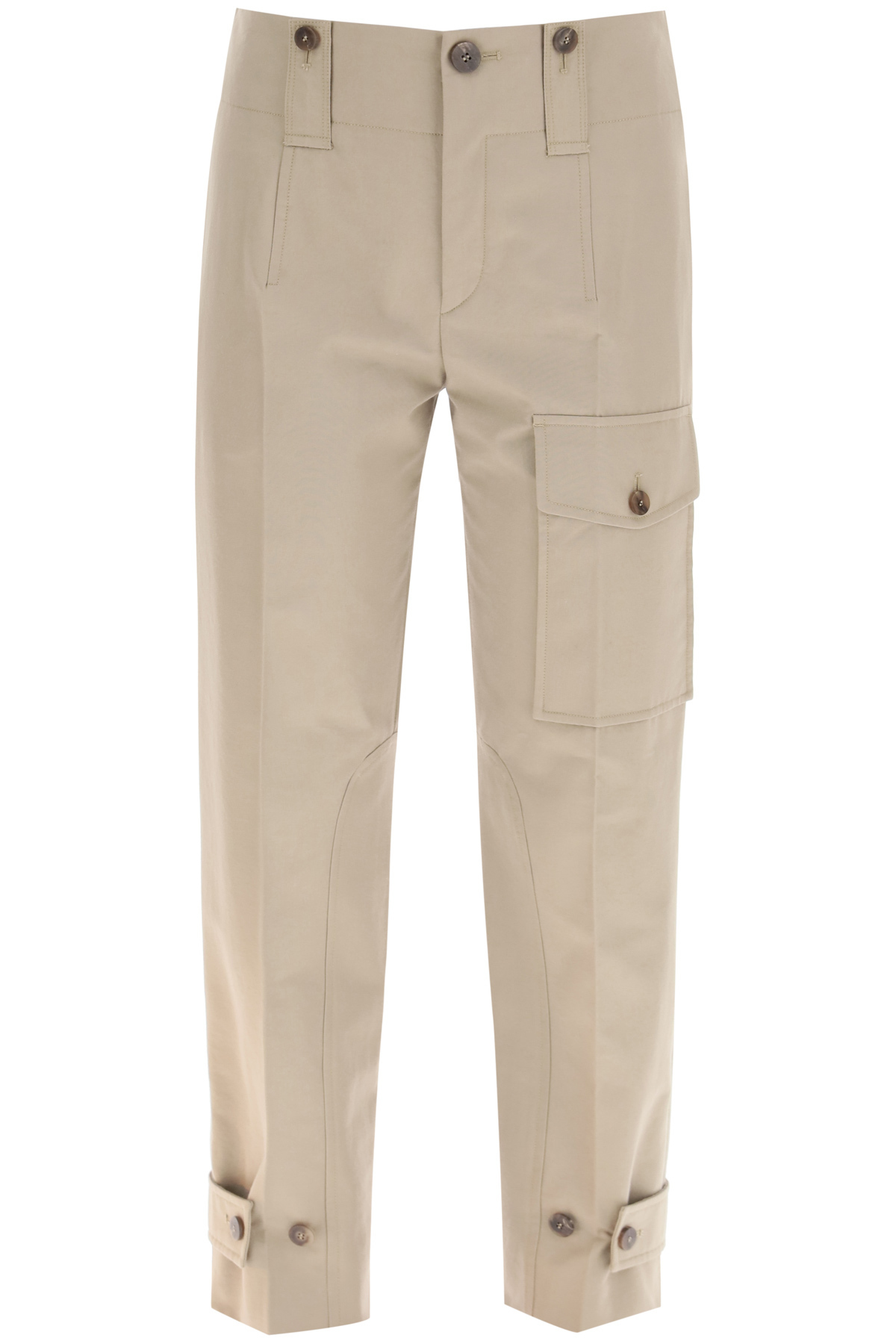 Chloe' pantalone cargo in cotone