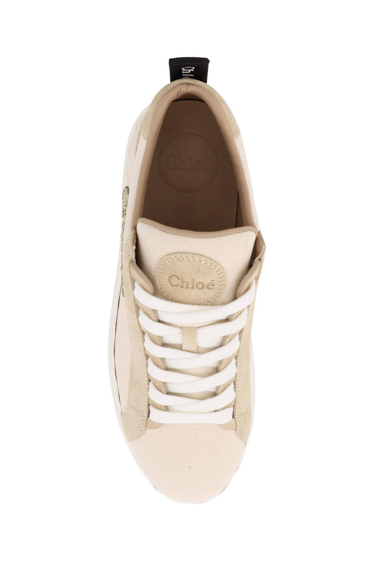 Chloe' sneakers lauren logo lurex