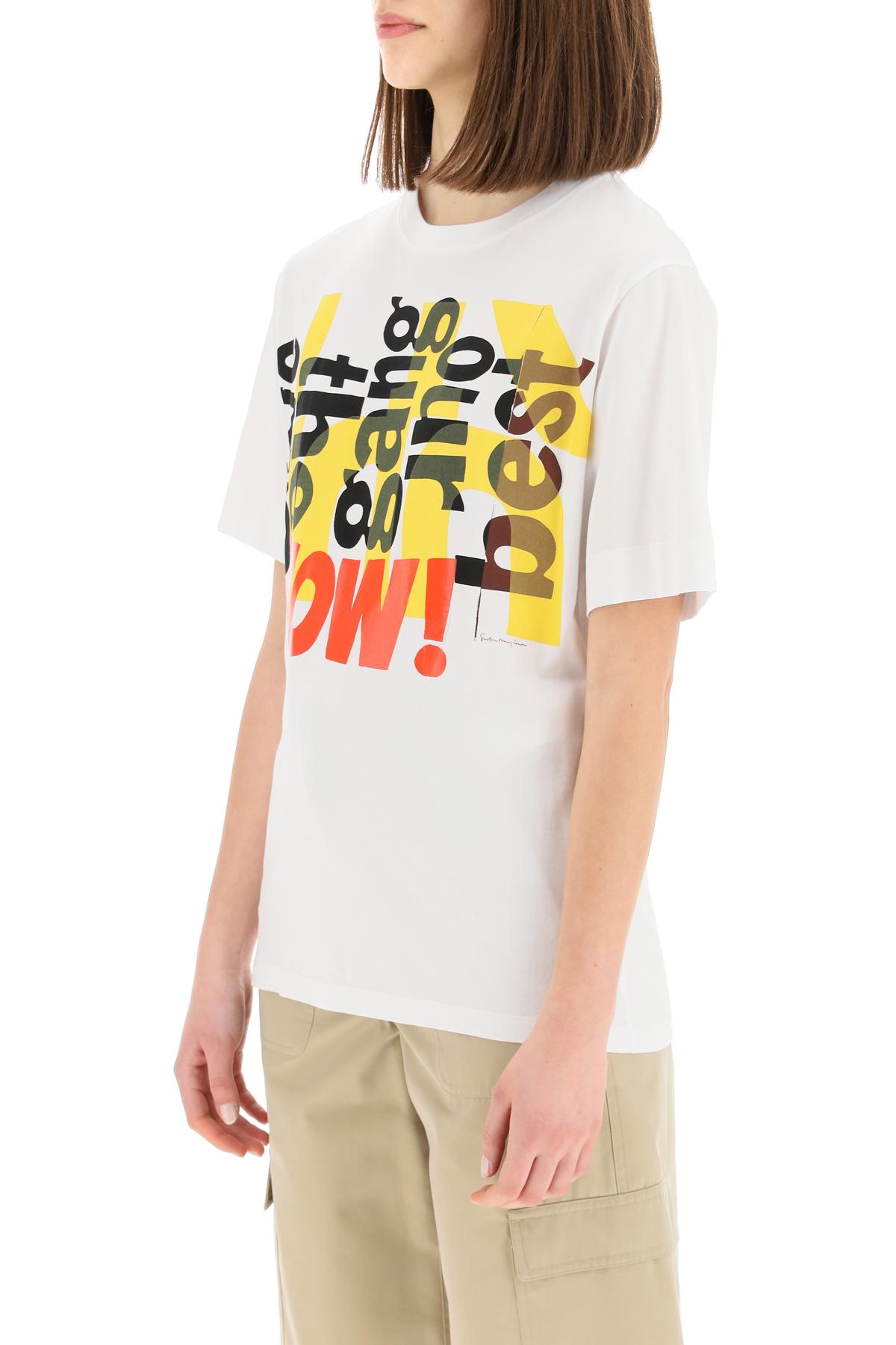 Chloe' t-shirt stampa artistica corita kent