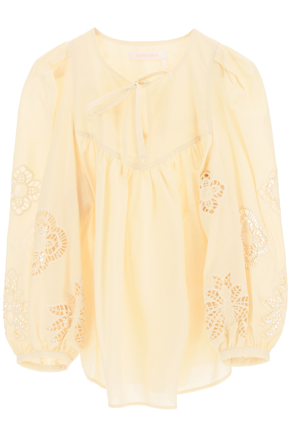 See by chloe blusa con pizzo