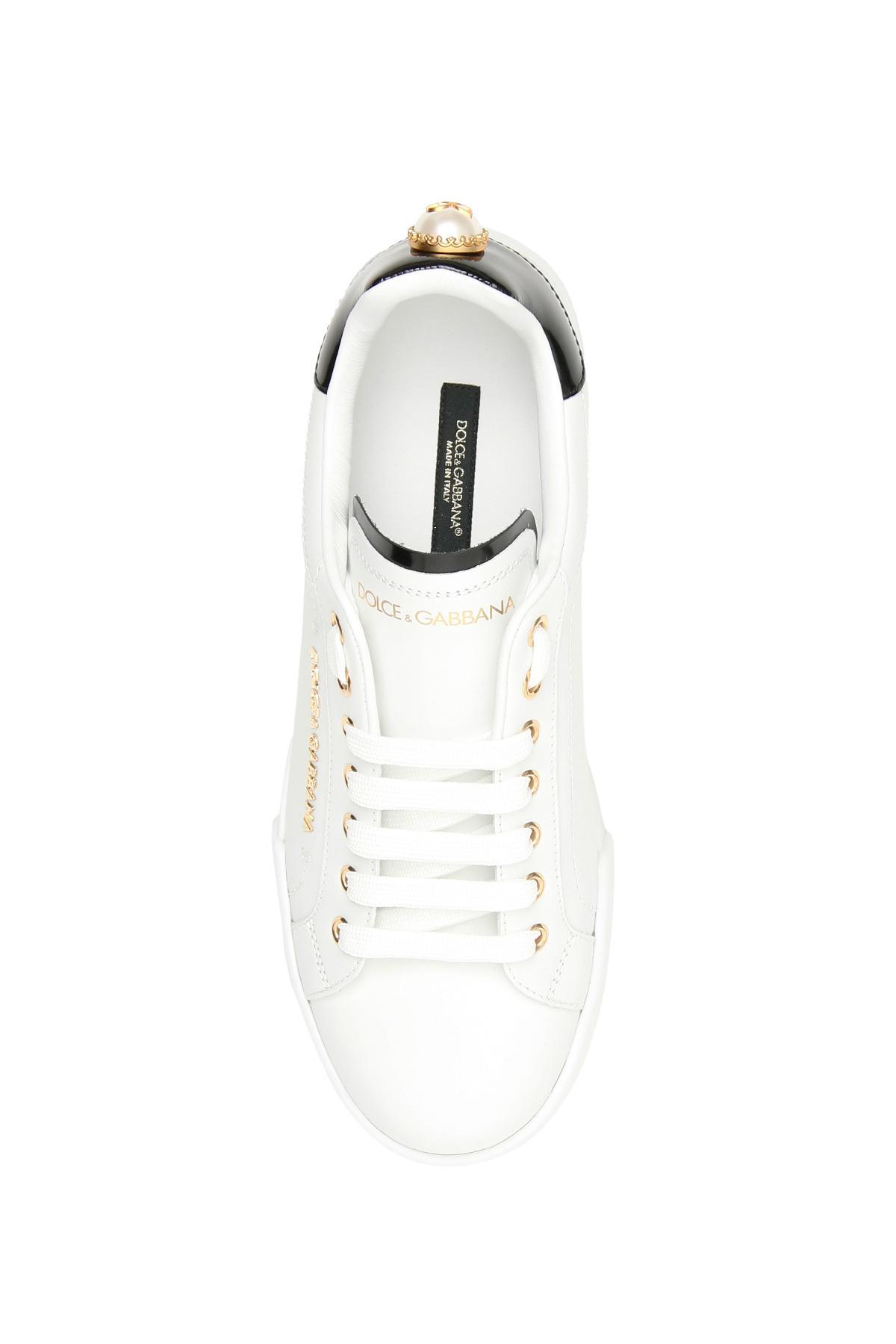 Dolce & gabbana sneakers portofino con perla
