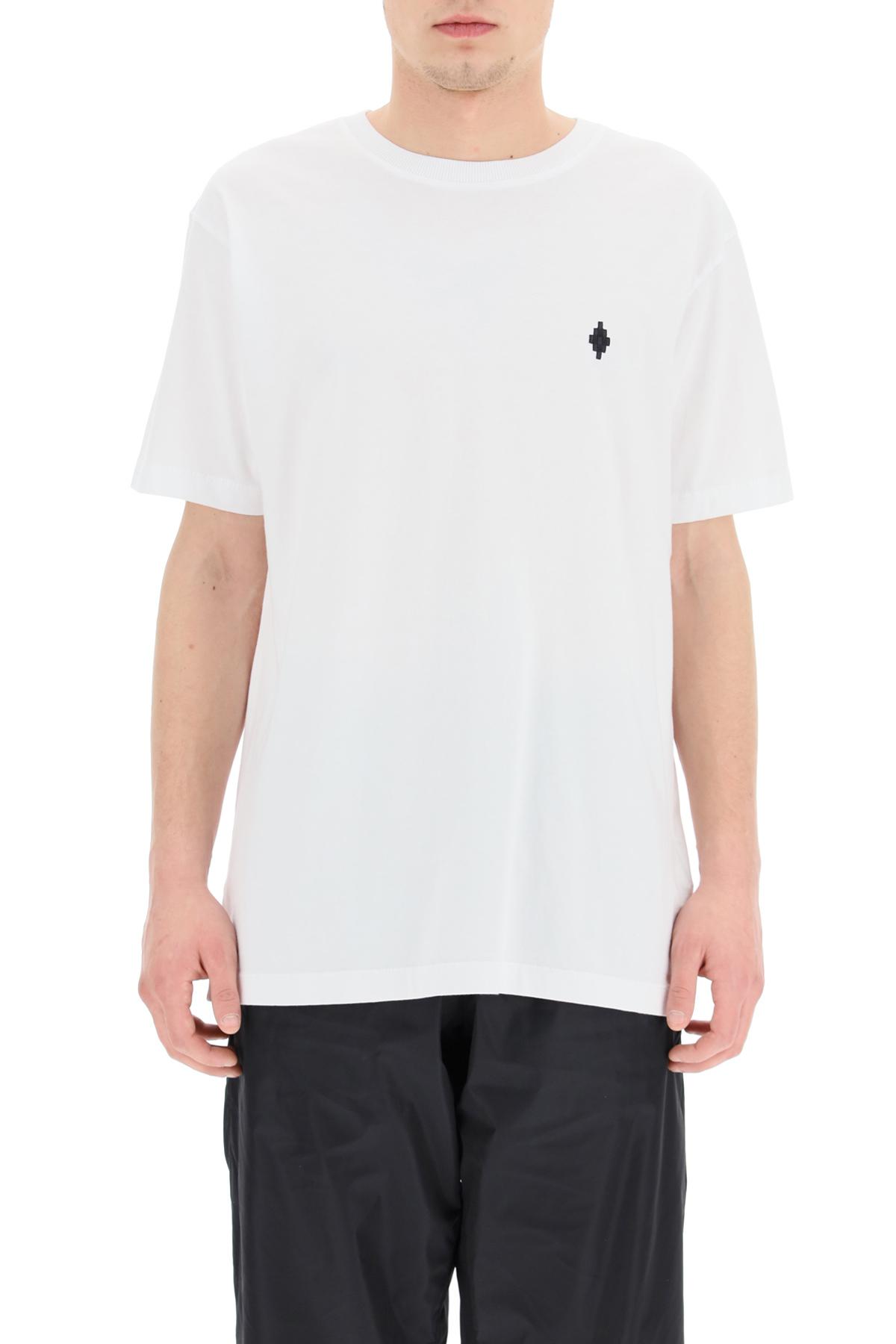 Marcelo burlon t-shirt con ricamo fire cross