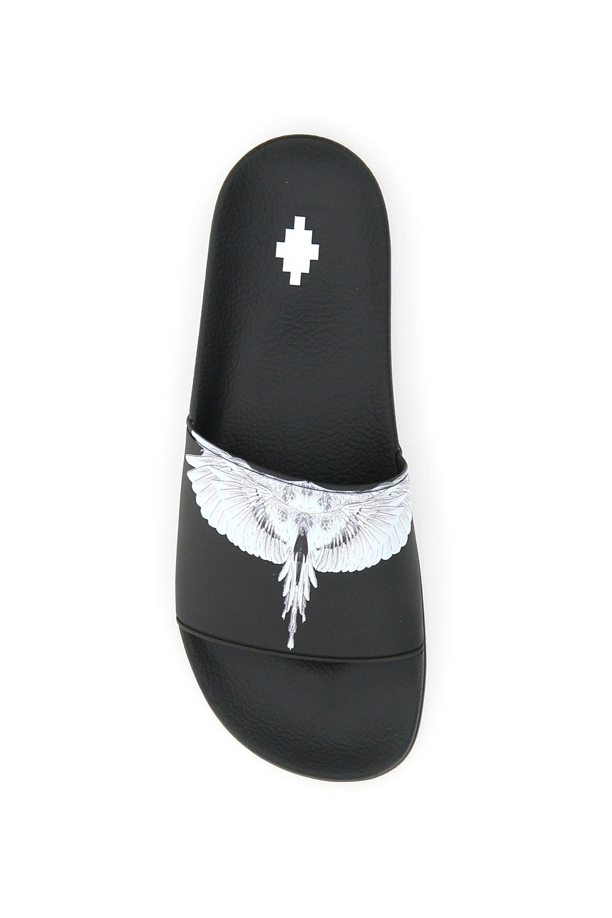 Marcelo burlon slide in gomma stampa wings