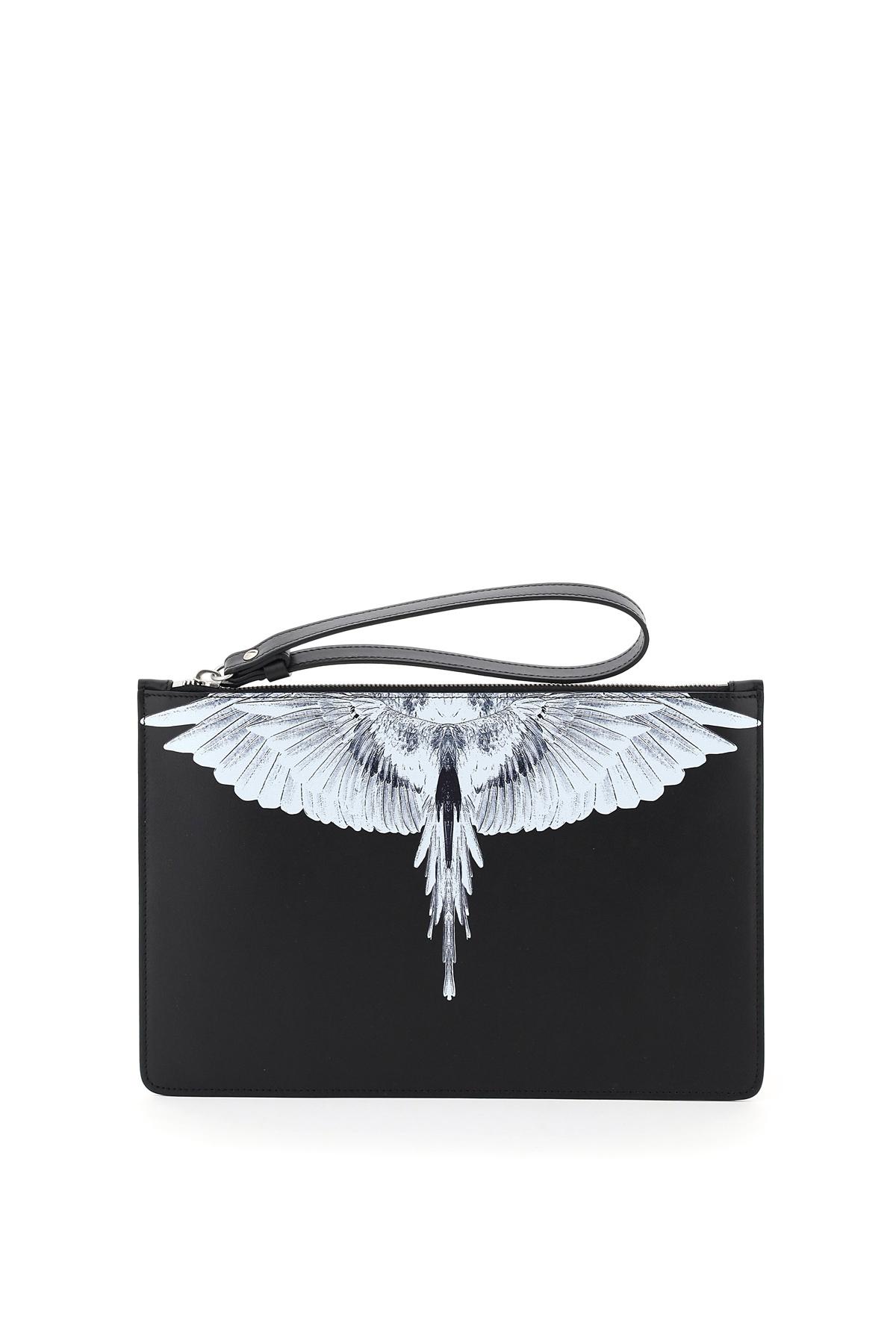 Marcelo burlon pouch con stampa  wings