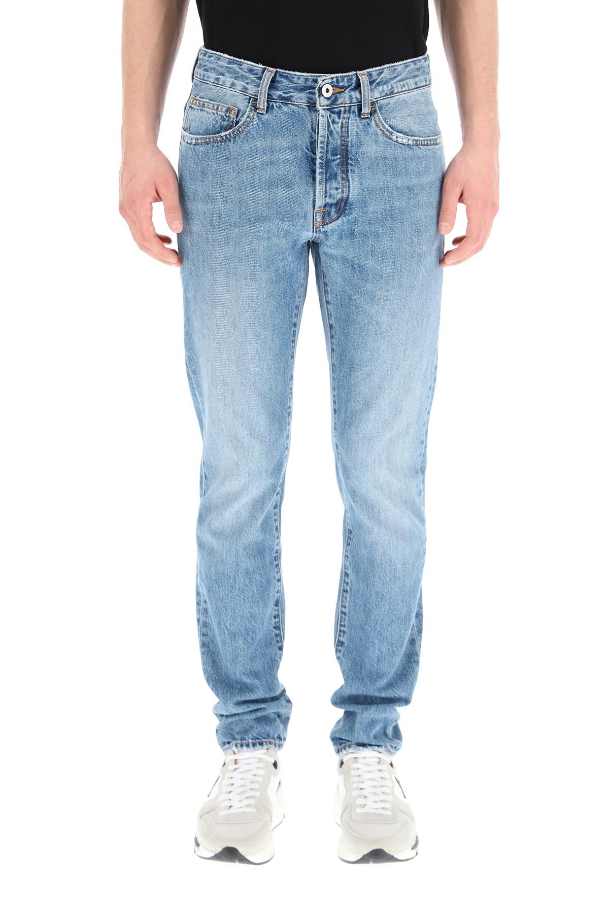 Marcelo burlon jeans slim con stampa fire cross