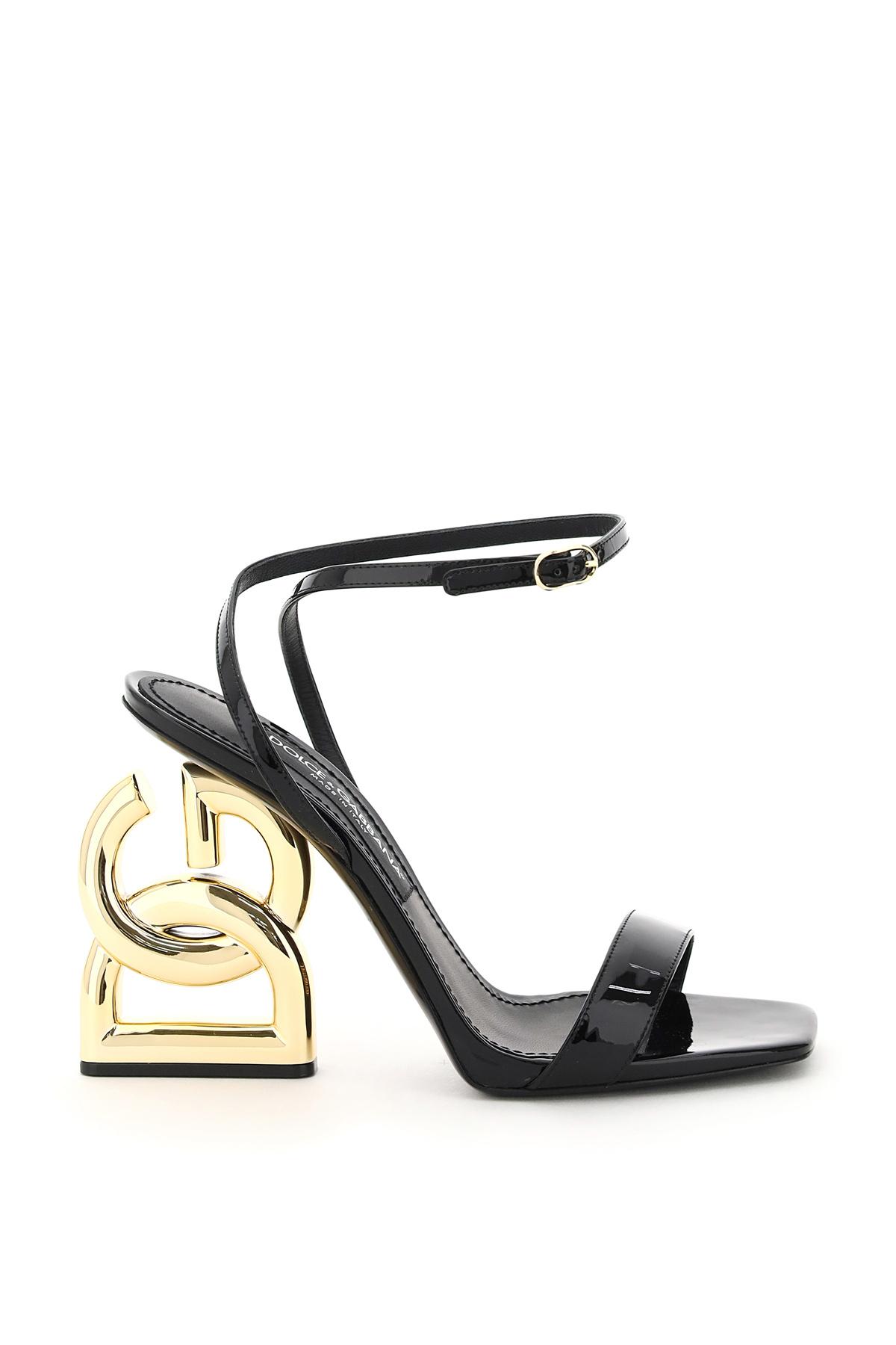 Dolce & gabbana sandalo con tacco dg pop