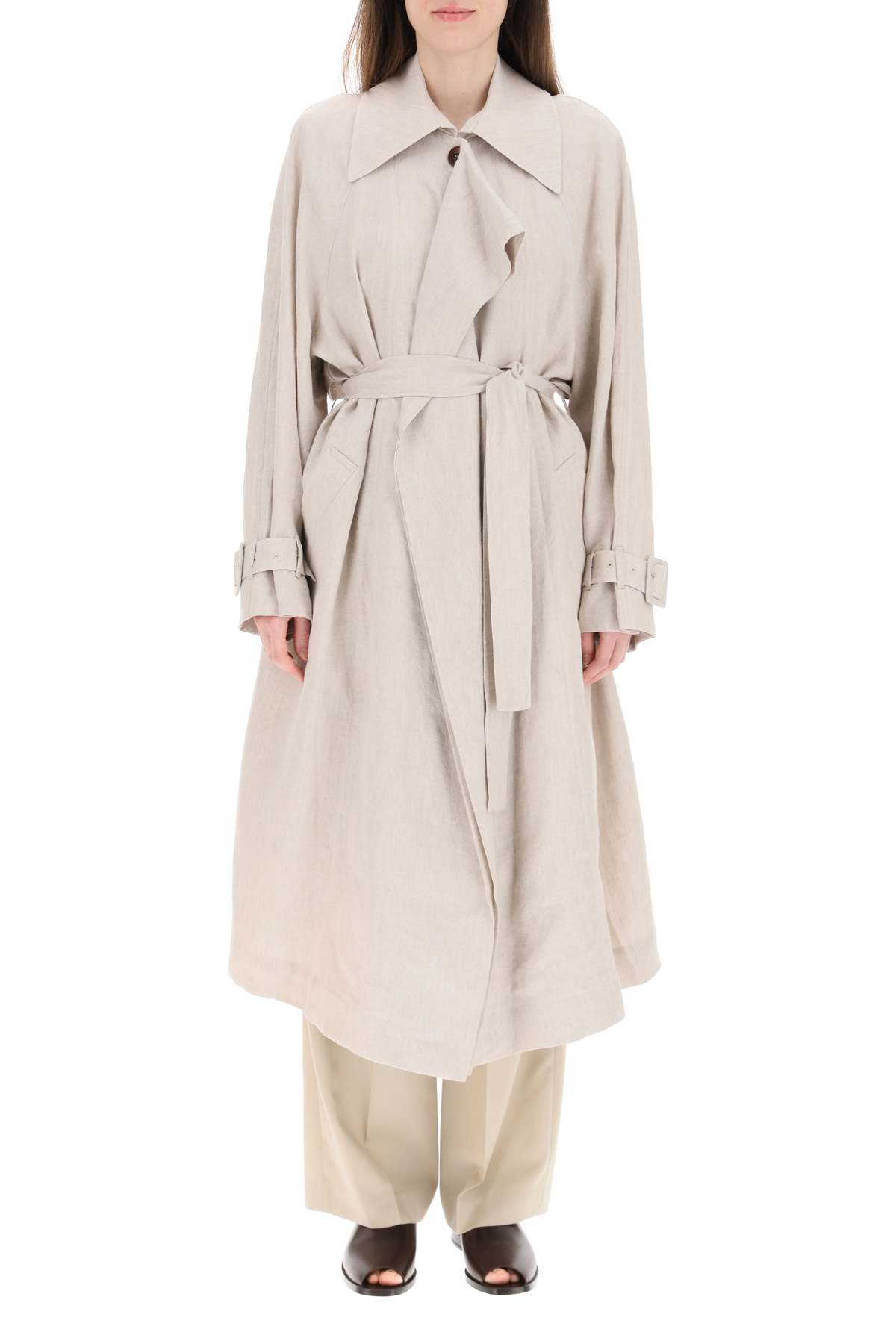 Low classic trench in lino