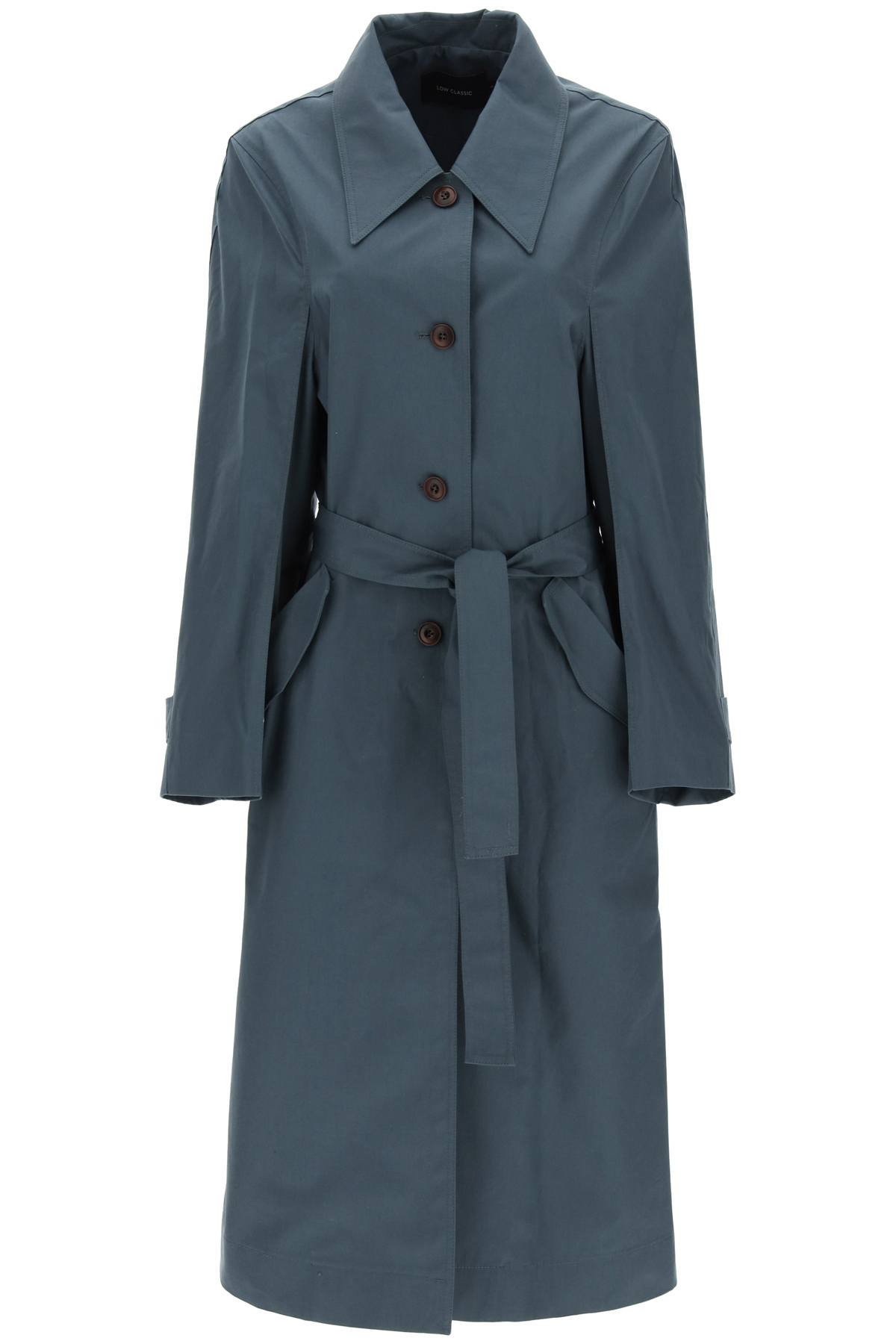 Low classic trench in cotone