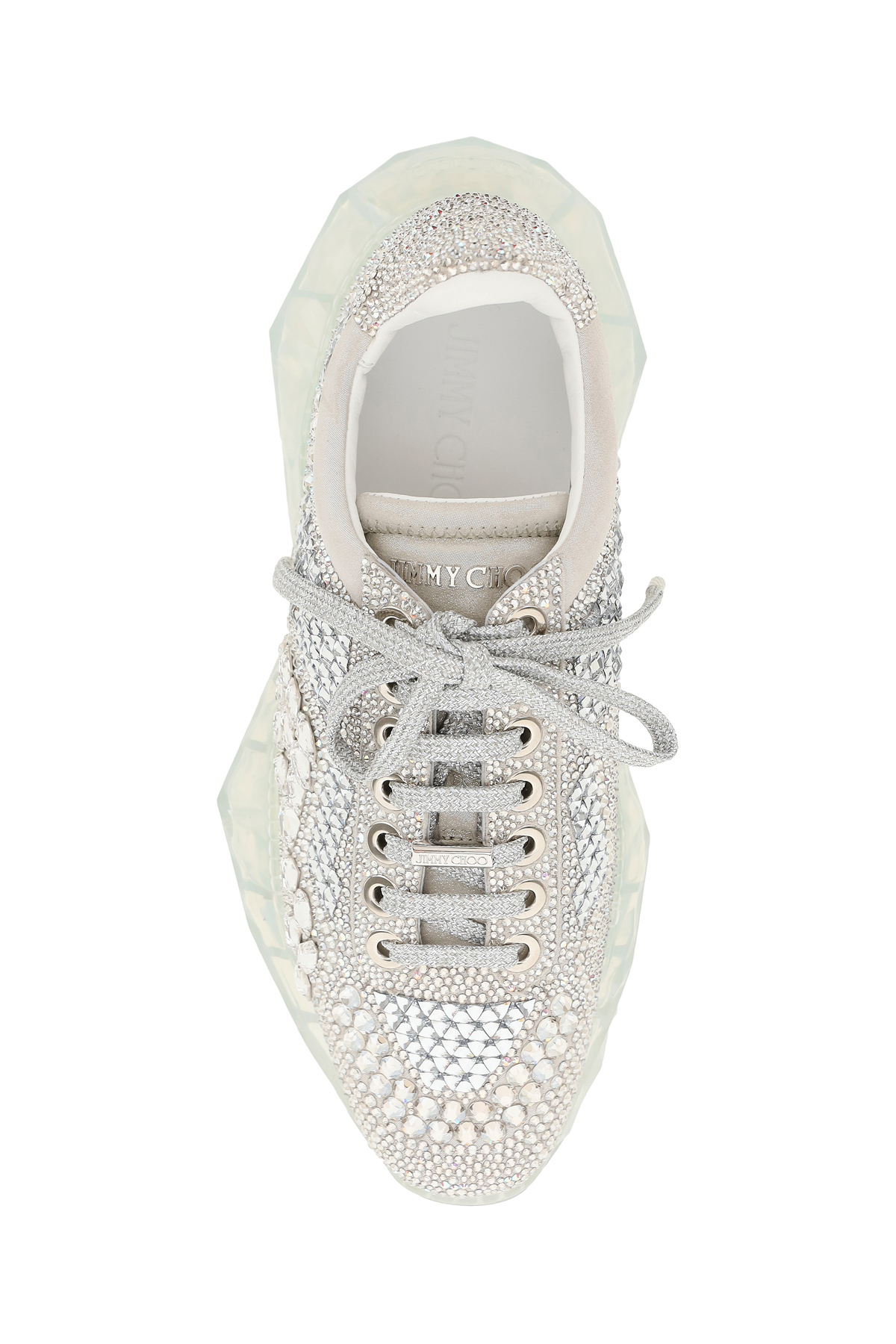 Jimmy choo sneakers diamond f con cristalli