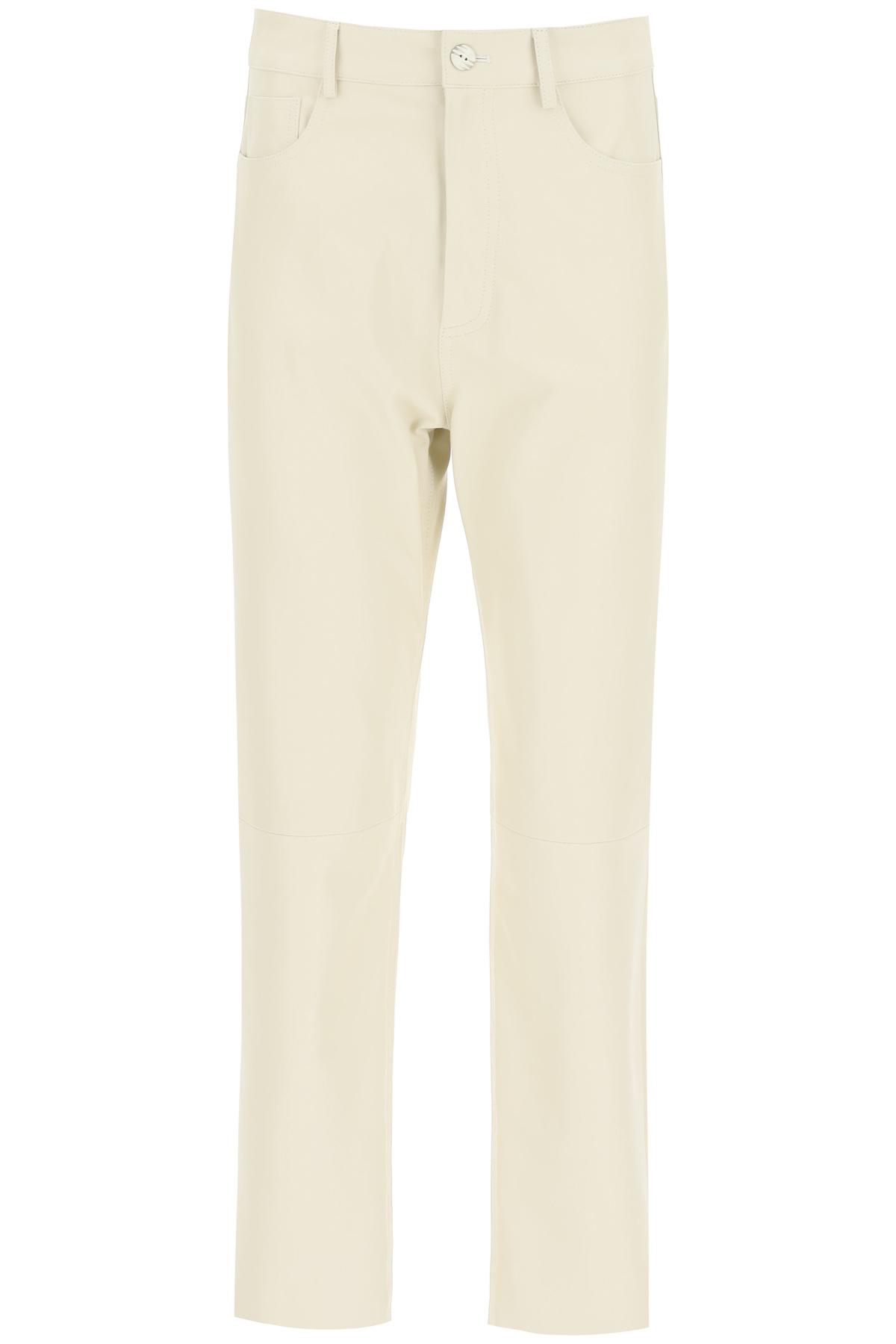Drome pantaloni in nappa a cinque tasche