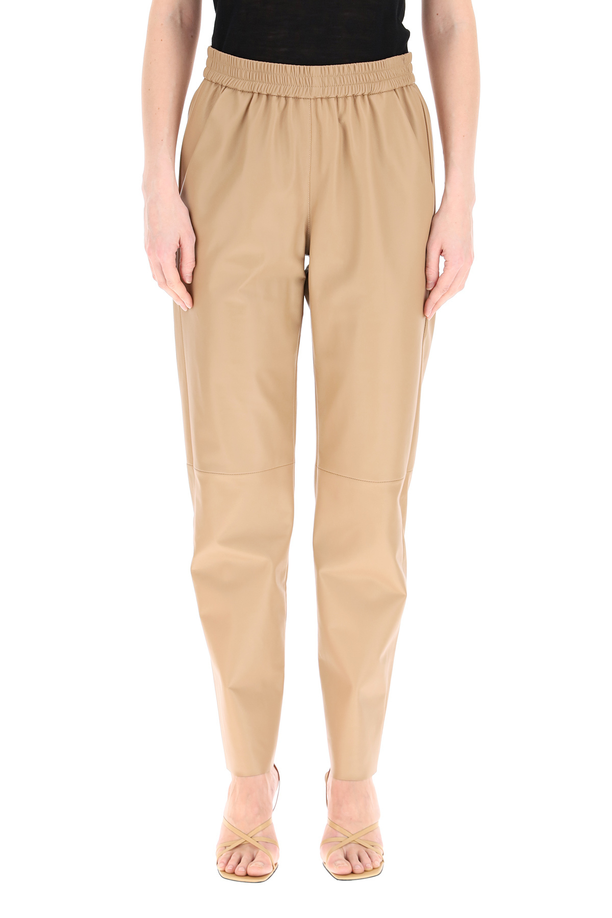 Drome pantaloni jogger in pelle
