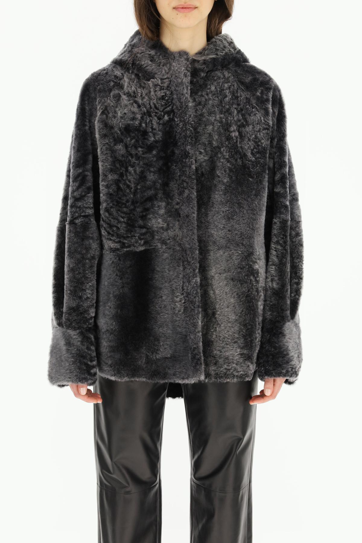 Drome cappotto corto in shearling