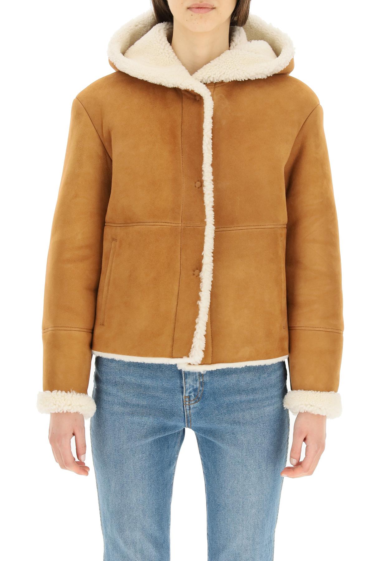 Drome coat in suede e shearling