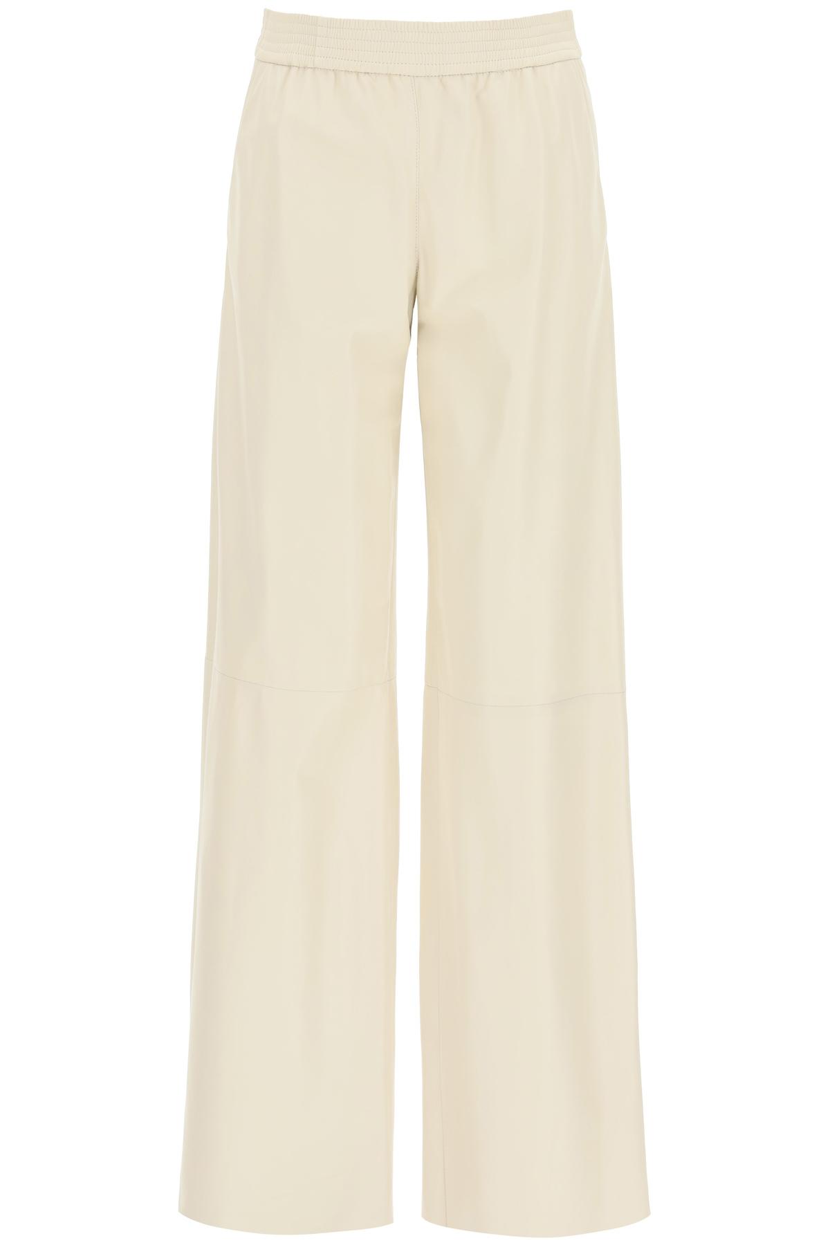 Drome pantaloni palazzo in nappa
