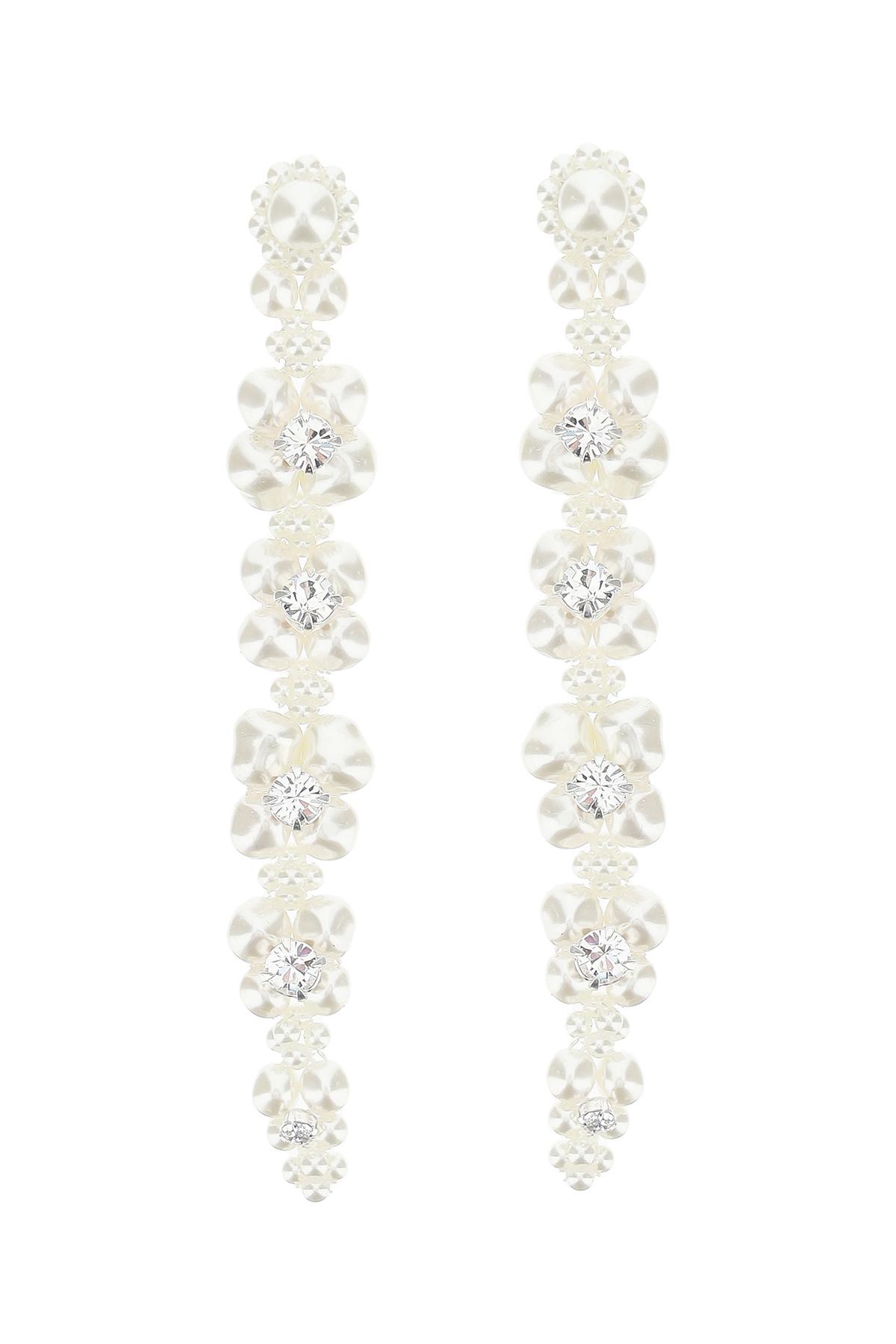 Simone rocha orecchini cluster drip pearl crystal