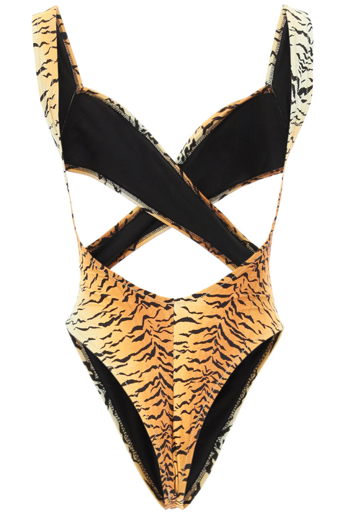 Reina olga costume intero exotica stampa tigre