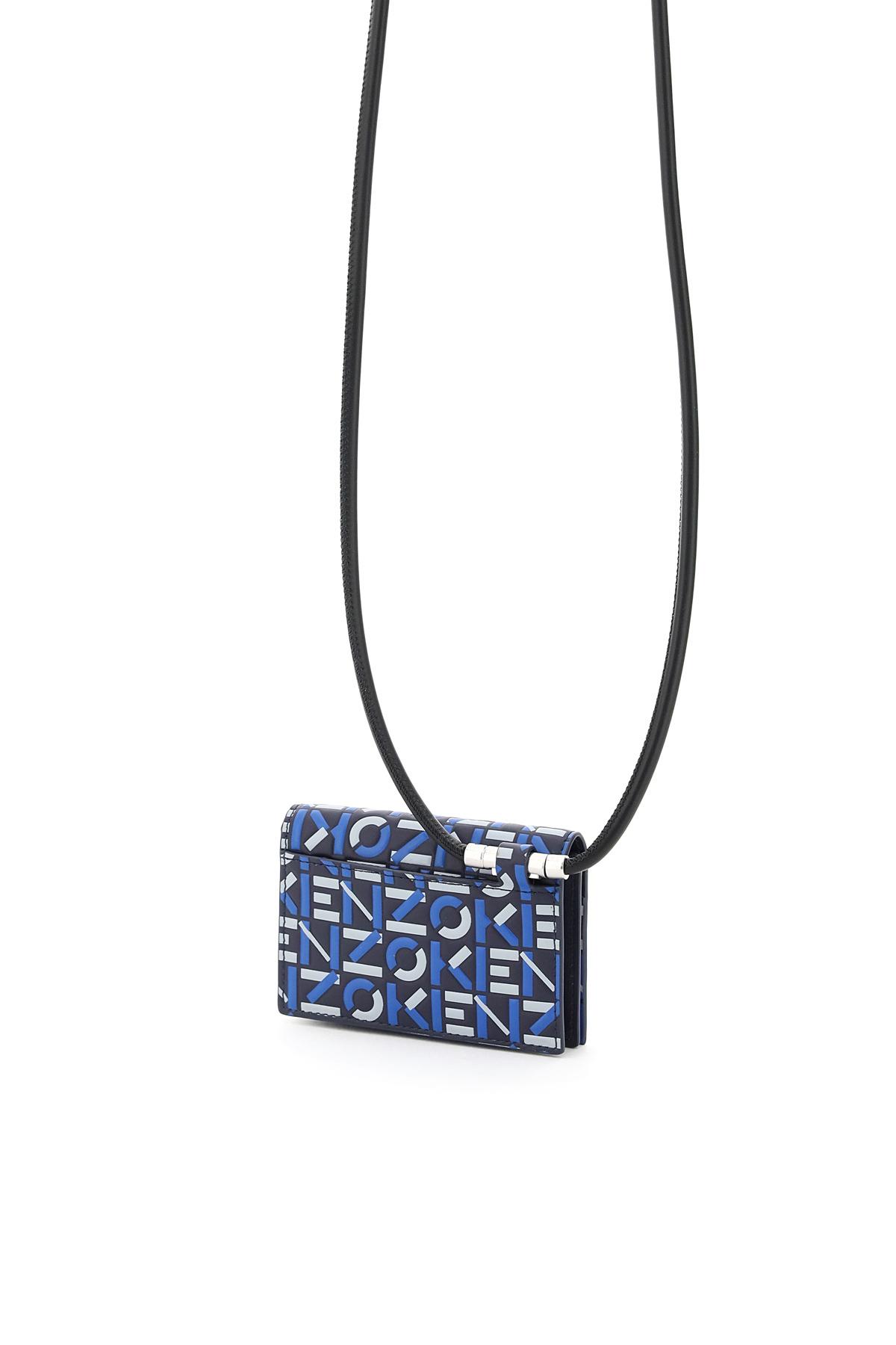Kenzo pouch portacarte on strap logo