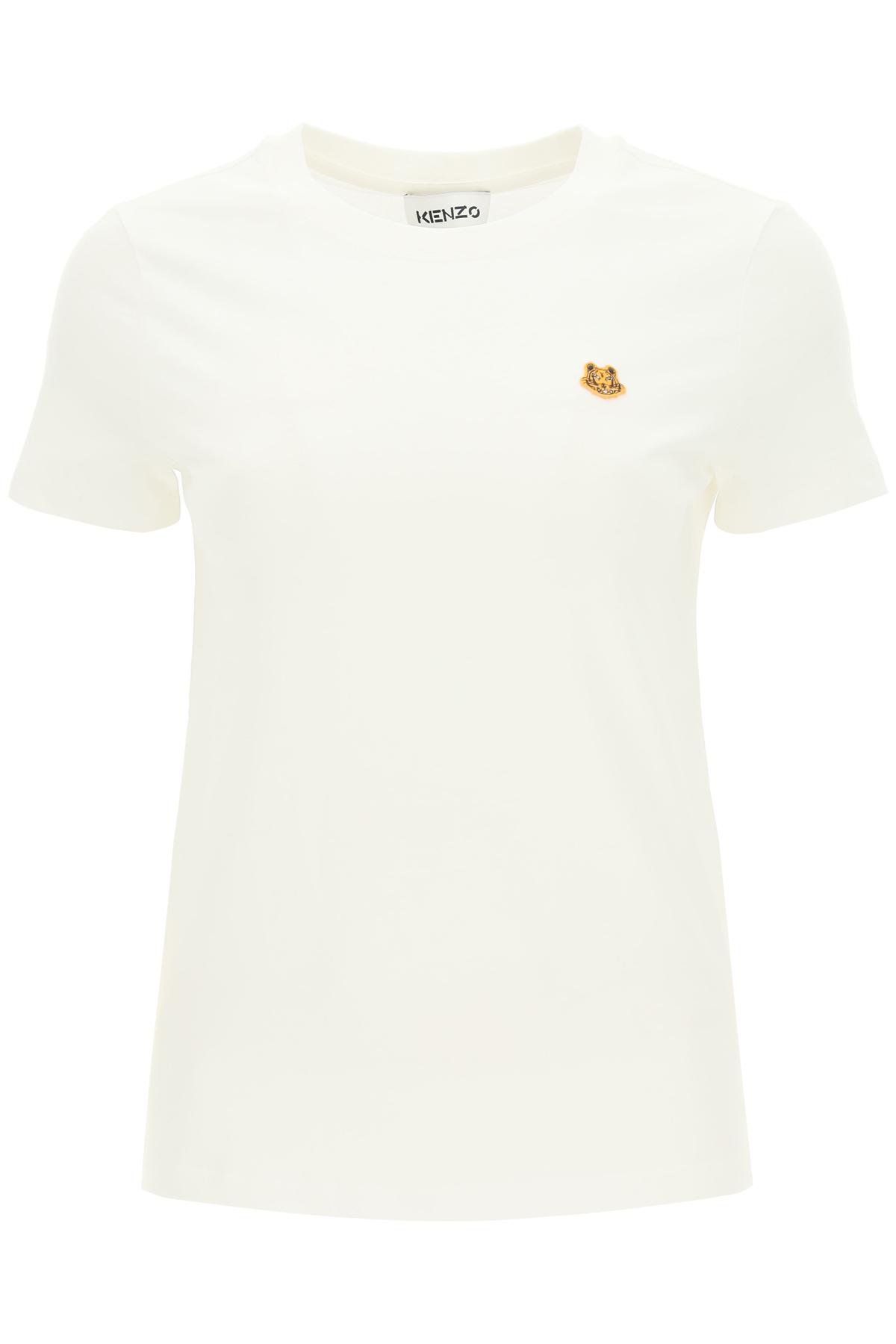 Kenzo t-shirt in cotone con mini patch tigre