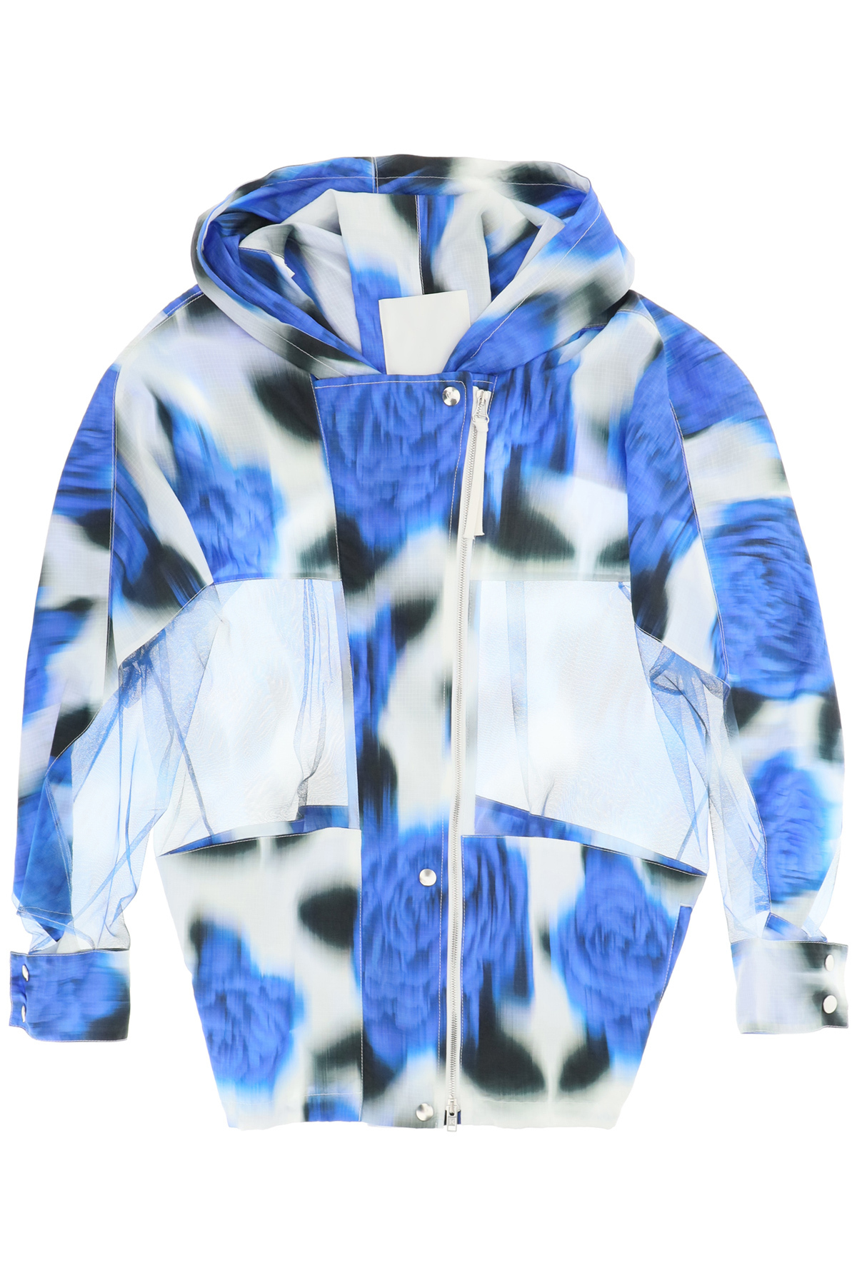 Kenzo giacca a vento stampa floreale effetto sfocato