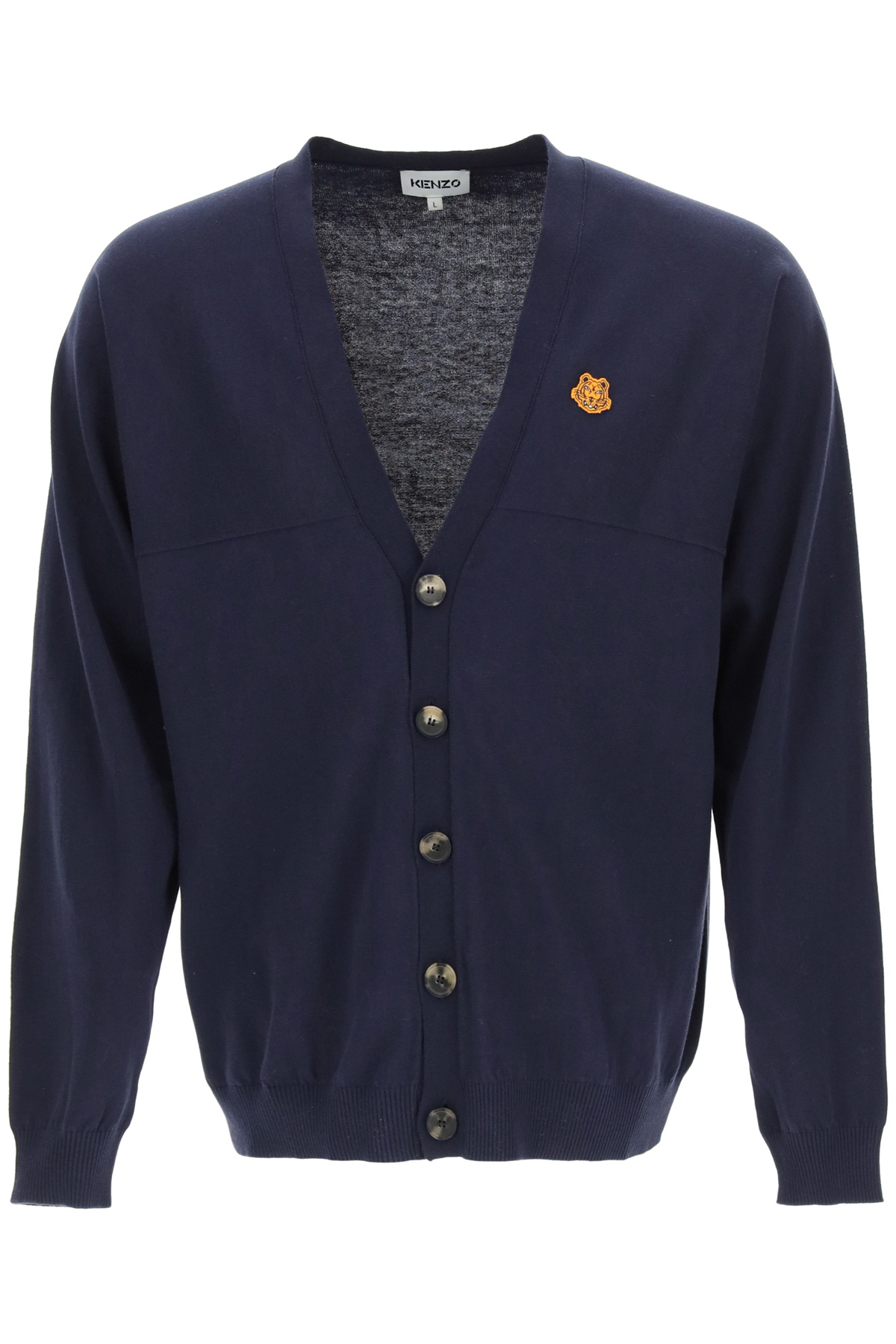 Kenzo cardigan over con patch tiger crest